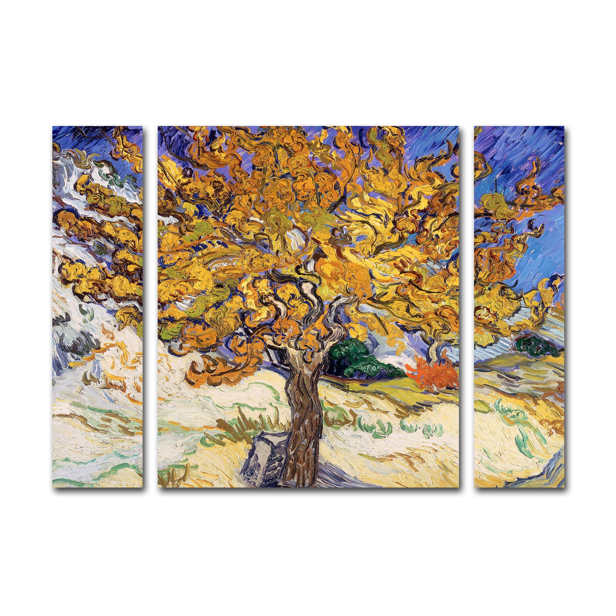 Trademark Global Vincent Van Gogh 'Mulberry Tree 1889' Multi Panel Art Set Small PartNumber: 021V002623636000P KsnValue: 2623636 MfgPartNumber: BL0415-3PC-SET-SM