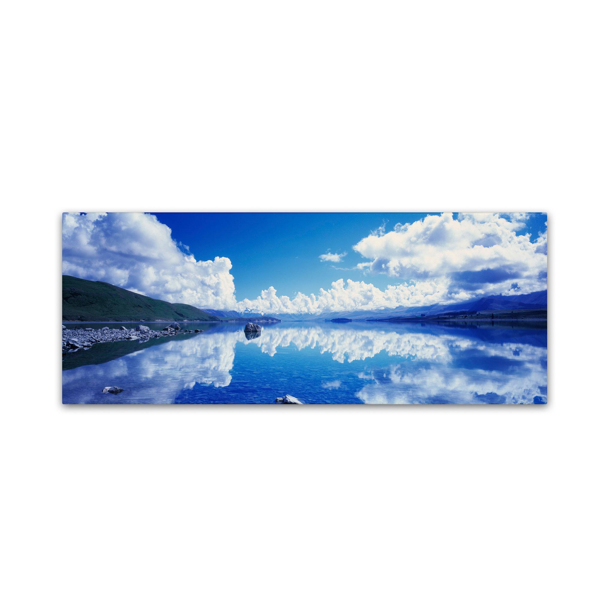 Trademark Fine Art David Evans 'Lake Tekapo Reflections-NZ' Canvas Art PartNumber: 021V002625207000P KsnValue: 2625207 MfgPartNumber: DE0050-C1032GG