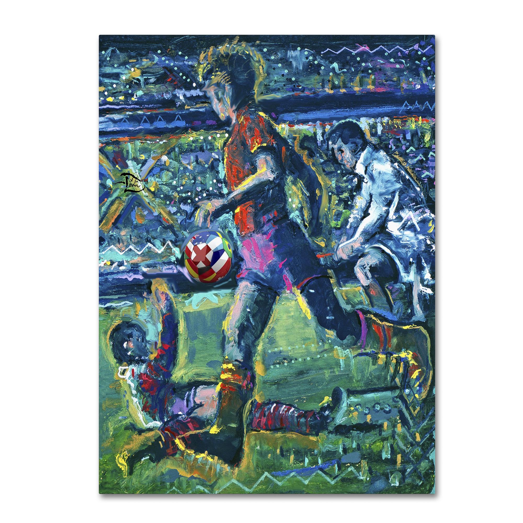 Trademark Fine Art Lowell S.V. Devin 'World Cup Dream' Canvas Art PartNumber: 021V002804855000P KsnValue: 2804855 MfgPartNumber: LSV0037-C3547GG
