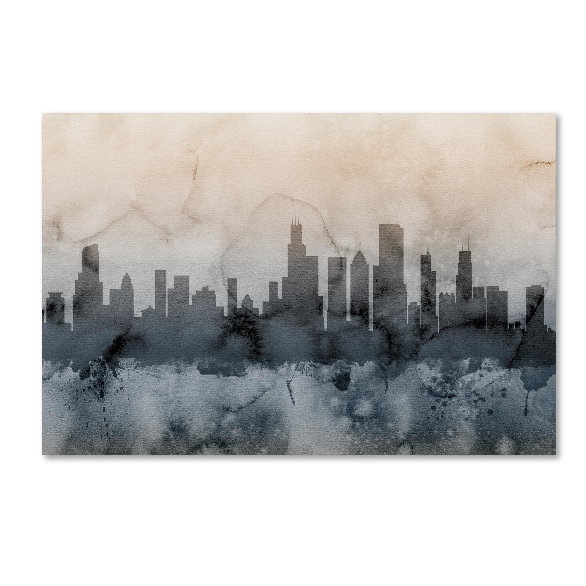 Trademark Fine Art Michael Tompsett 'Chicago Illinois Skyline V' Canvas Art