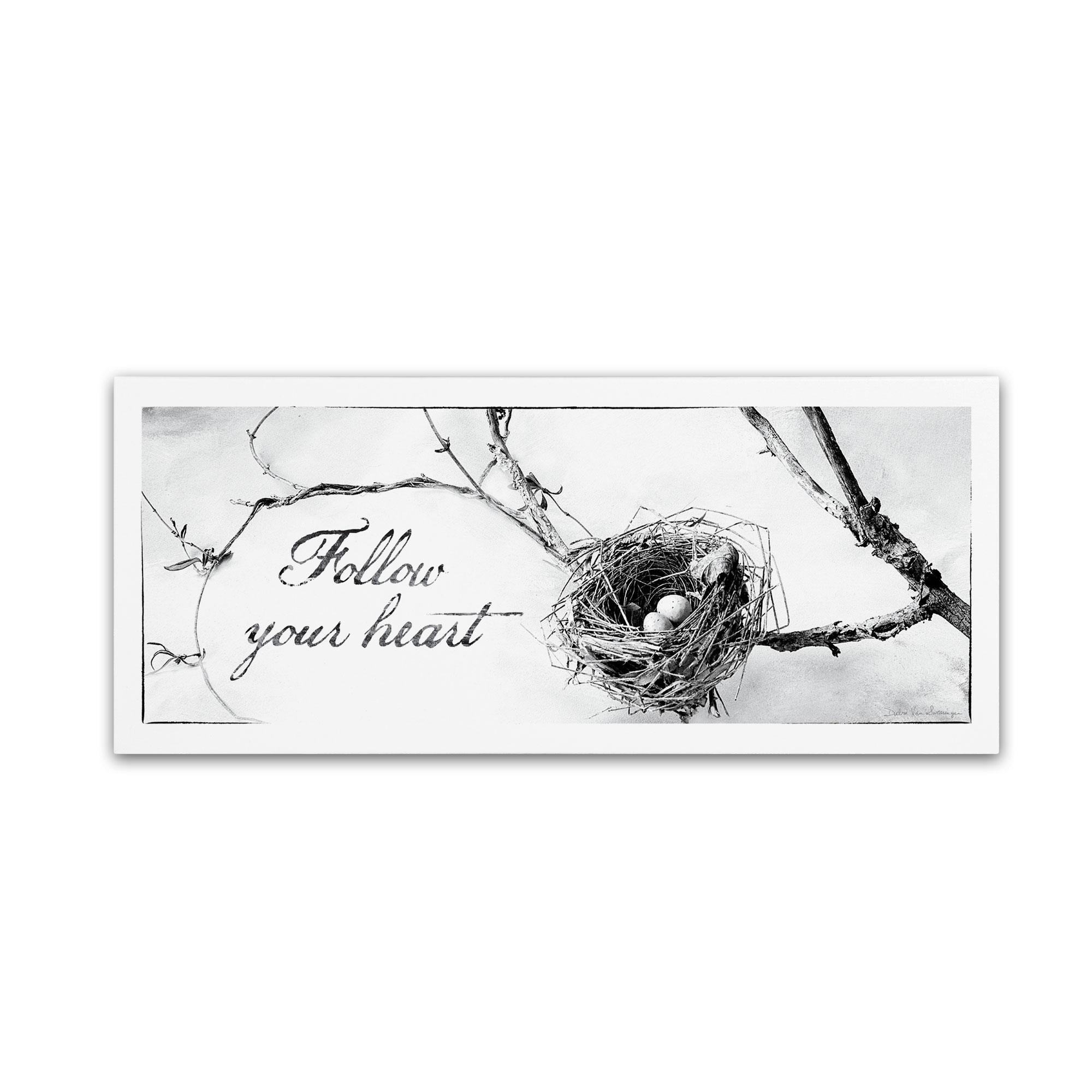 Trademark Fine Art Debra Van Swearingen 'Nest and Branch III' Canvas Art PartNumber: 021V004696375000P KsnValue: 4696375 MfgPartNumber: WAP0105-C1432GG