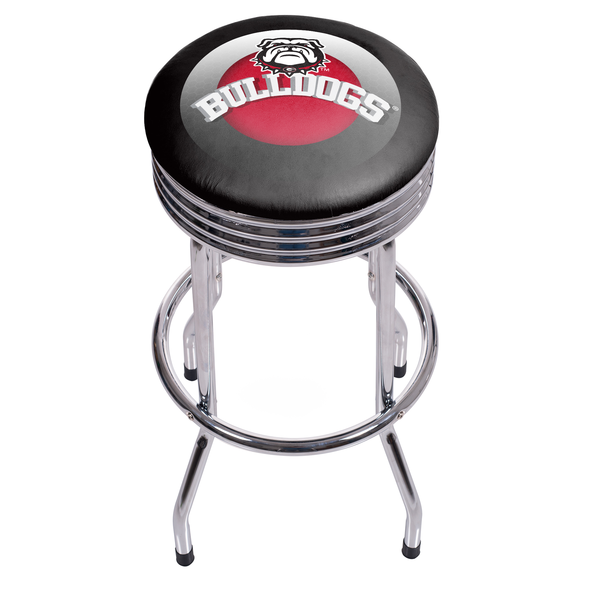 University of Georgia Chrome Ribbed Bar Stool - Honeycomb 080V009247674000