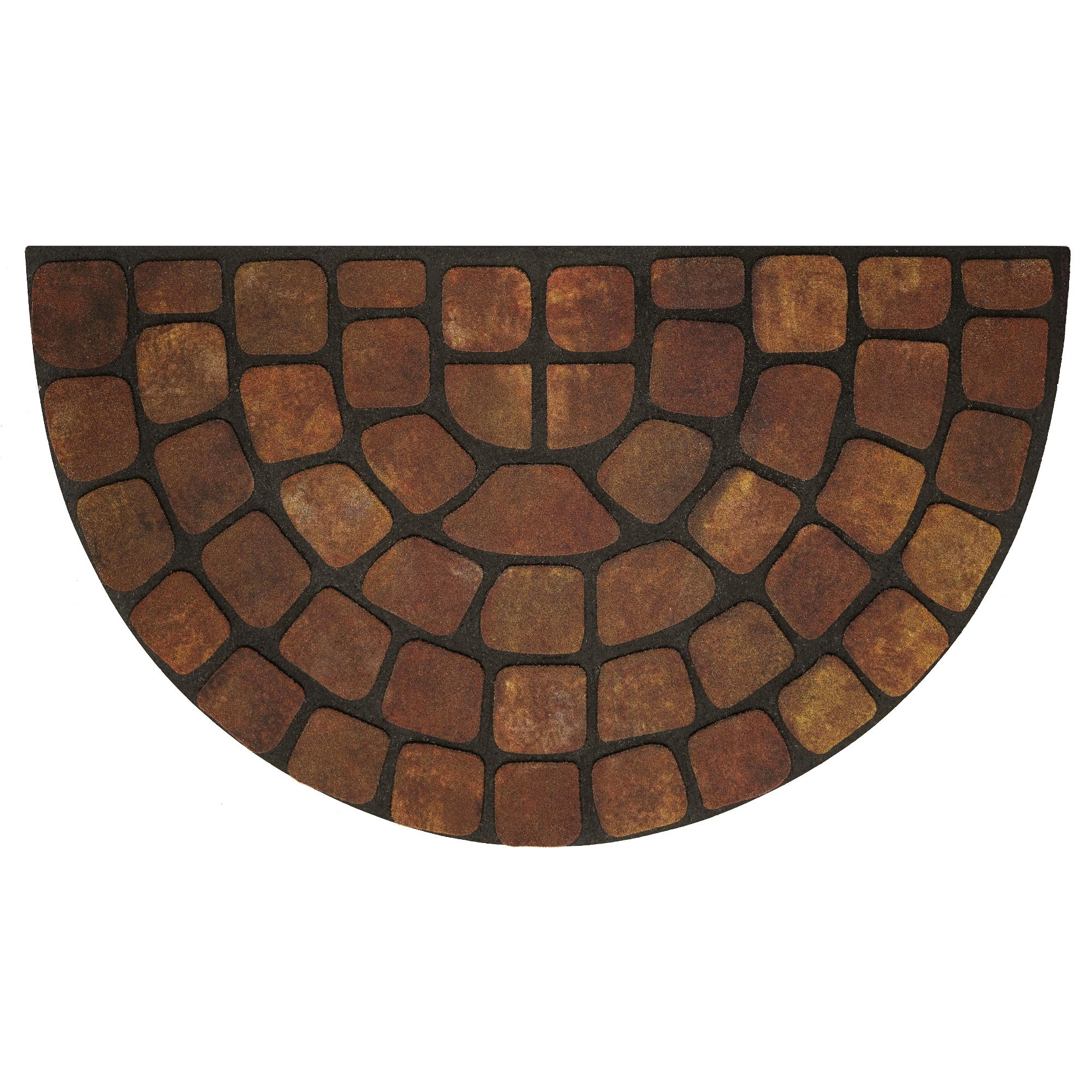 Image of Achim Raised Rubber Mat Beige Stone Slice 18x30, Beige & Tan