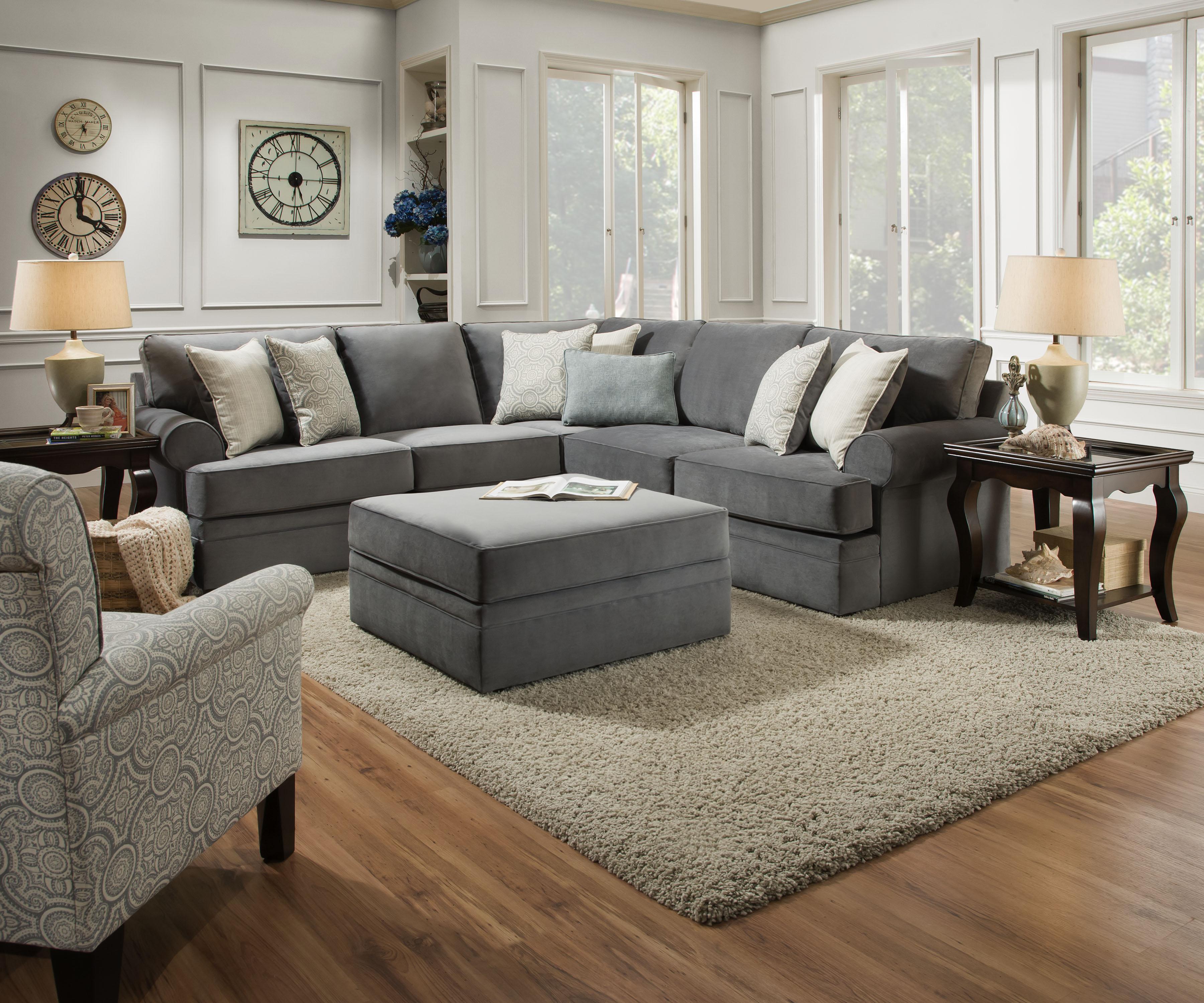 Simmons Bluebell Laf Bump Sofa Abbington Seven Seas