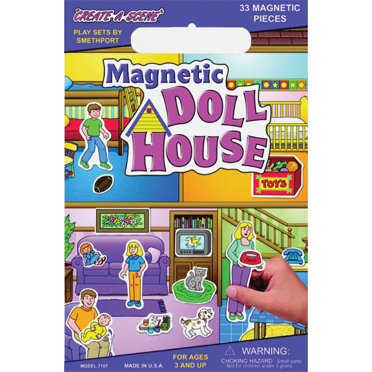 PlayMonster Magnetic Create-A-Scene Doll House PartNumber: 004V009873941000P KsnValue: 9873941 MfgPartNumber: 095098