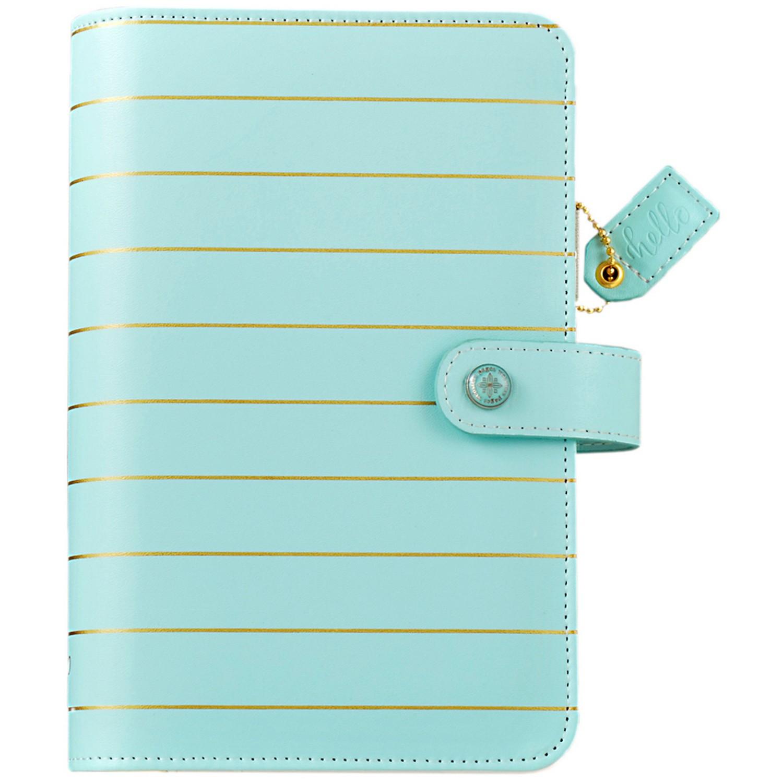 Webster's Pages 209595 Color Crush Faux Leather Personal Planner Kit -Blue W/Gold Stripe PartNumber: 021V002933875000P KsnValue: 2933875 MfgPartNumber: 209595