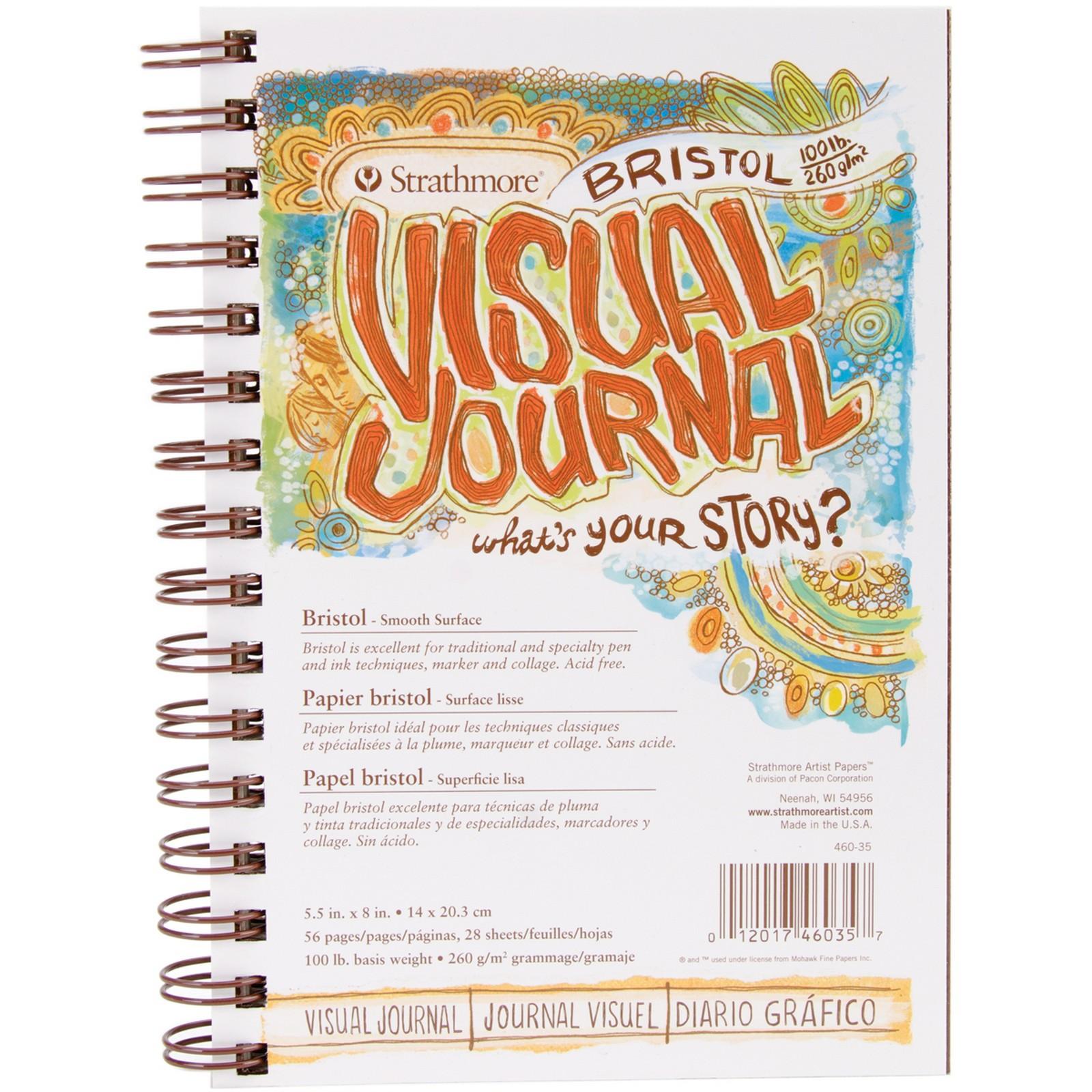 """Strathmore Visual Journal Bristol Smooth 5.5""""X8"""" 28 Sheets PartNumber: 021V009459713000P KsnValue: 9459713 MfgPartNumber: 130156"""