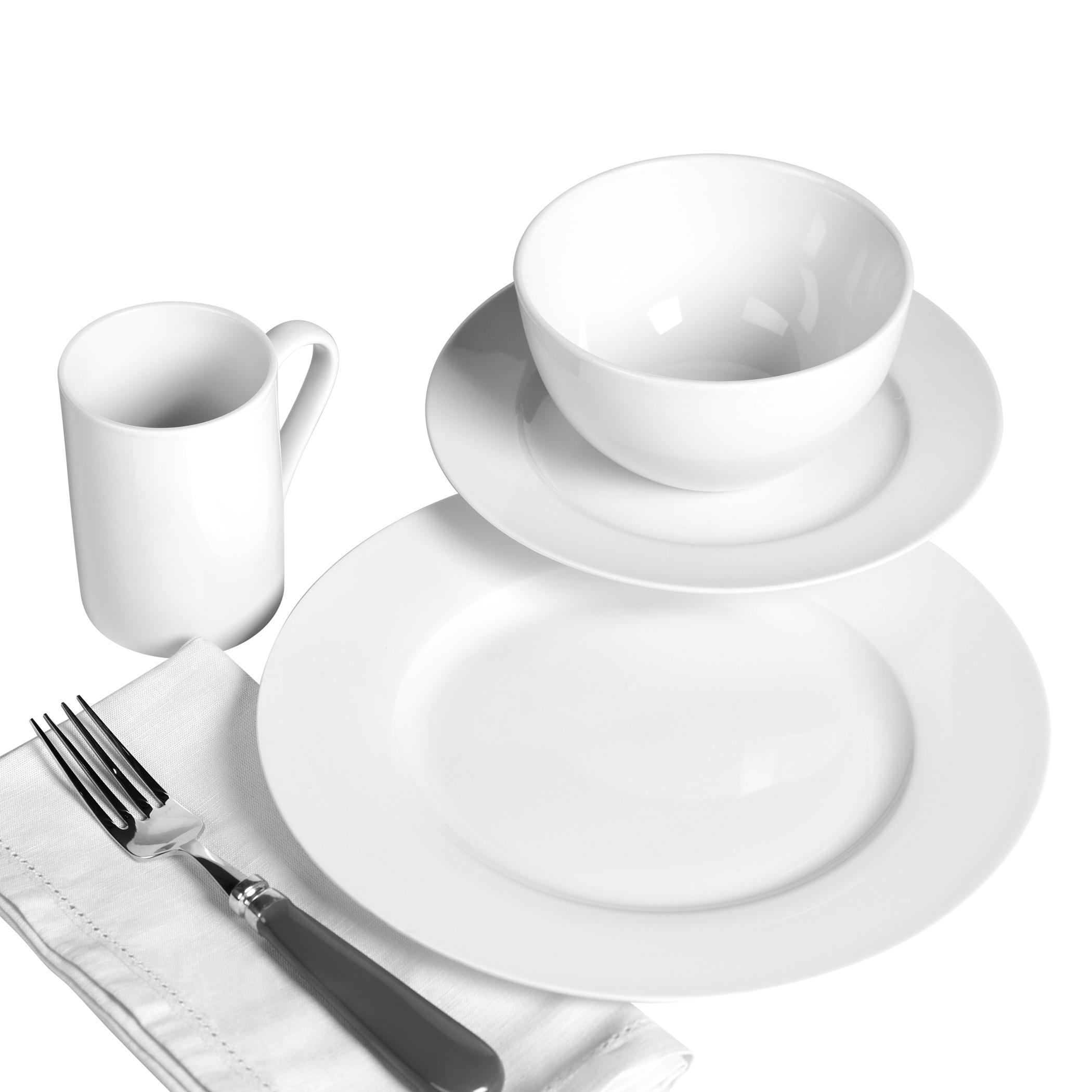 Tabletops Unlimited 16PC Porcelain Dinnerware Set- Soleil