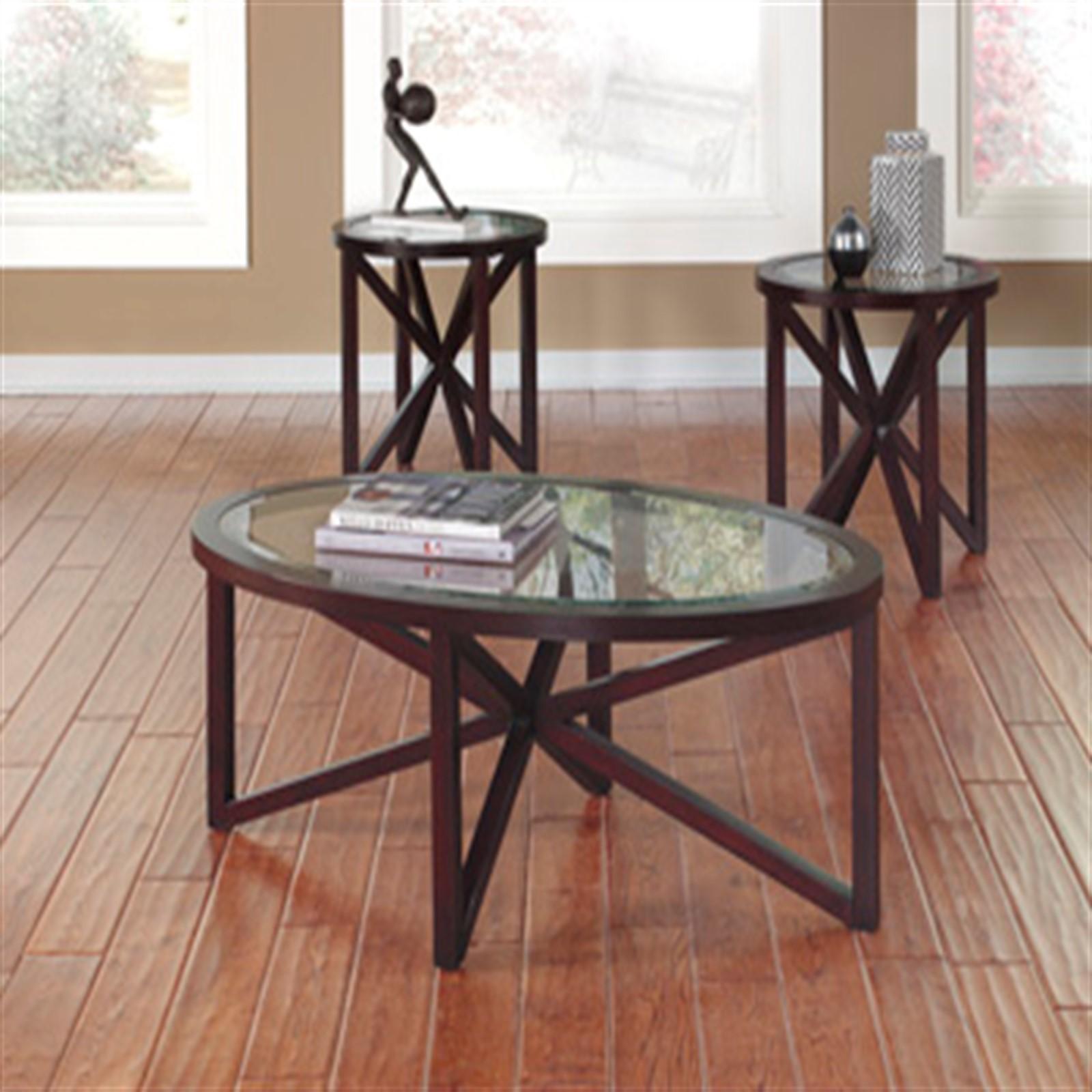 oval coffee table glass