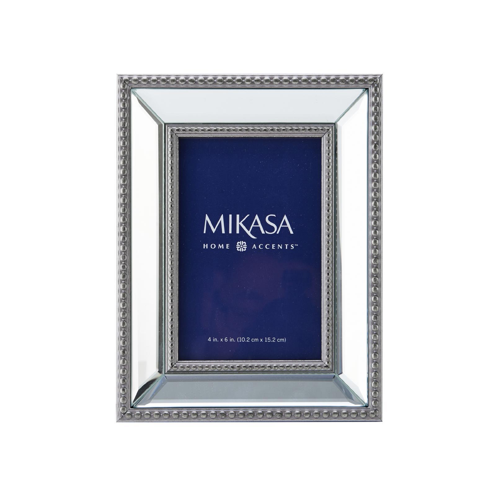 "Mikasa 4""x6"" PS Bead Mirror Frame PartNumber: 02414470000P KsnValue: 6039893 MfgPartNumber: 5151000"