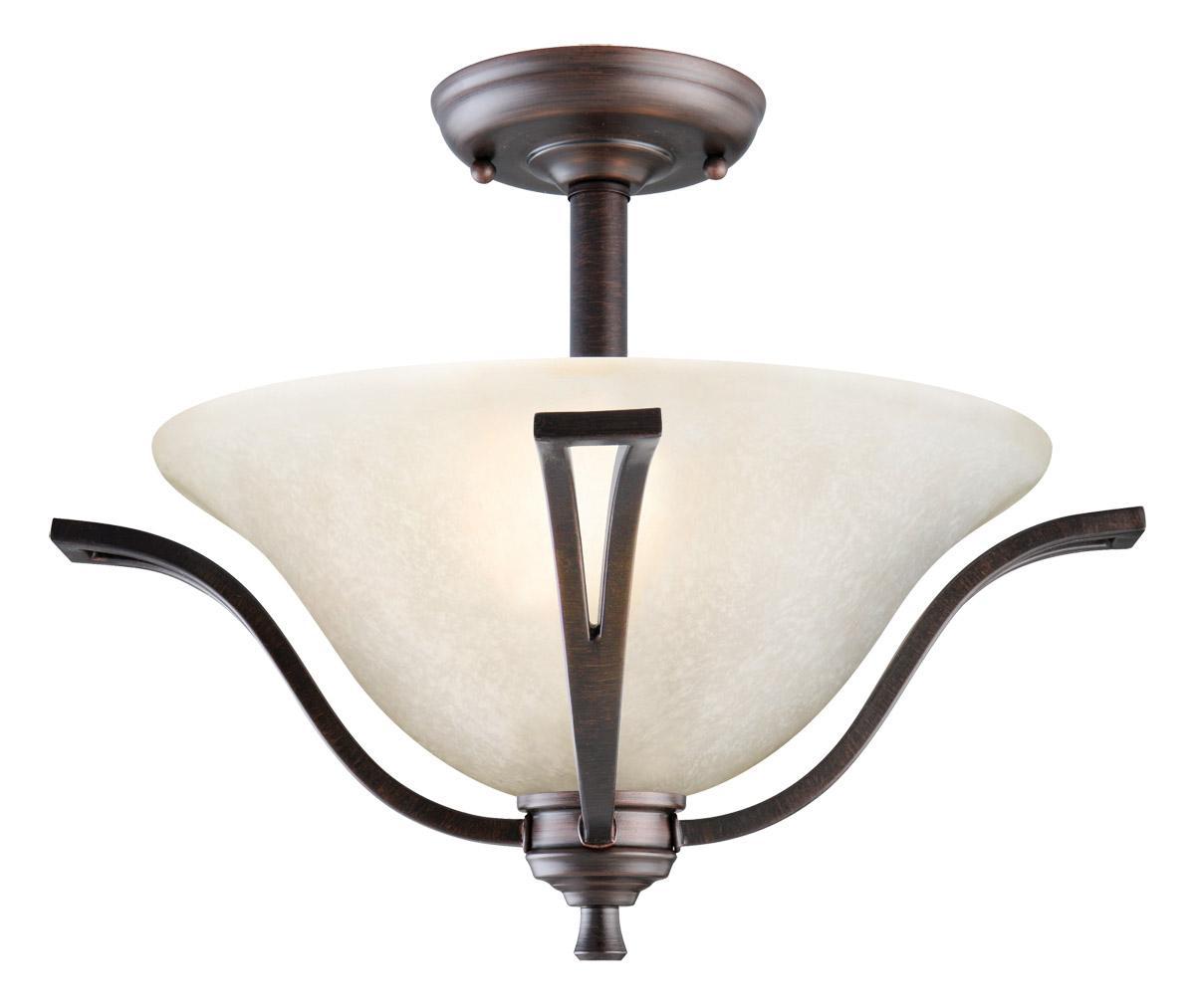 Design House 517631 Ironwood 2-Light Semi Flush Ceiling Light, Brushed Bronze Finish