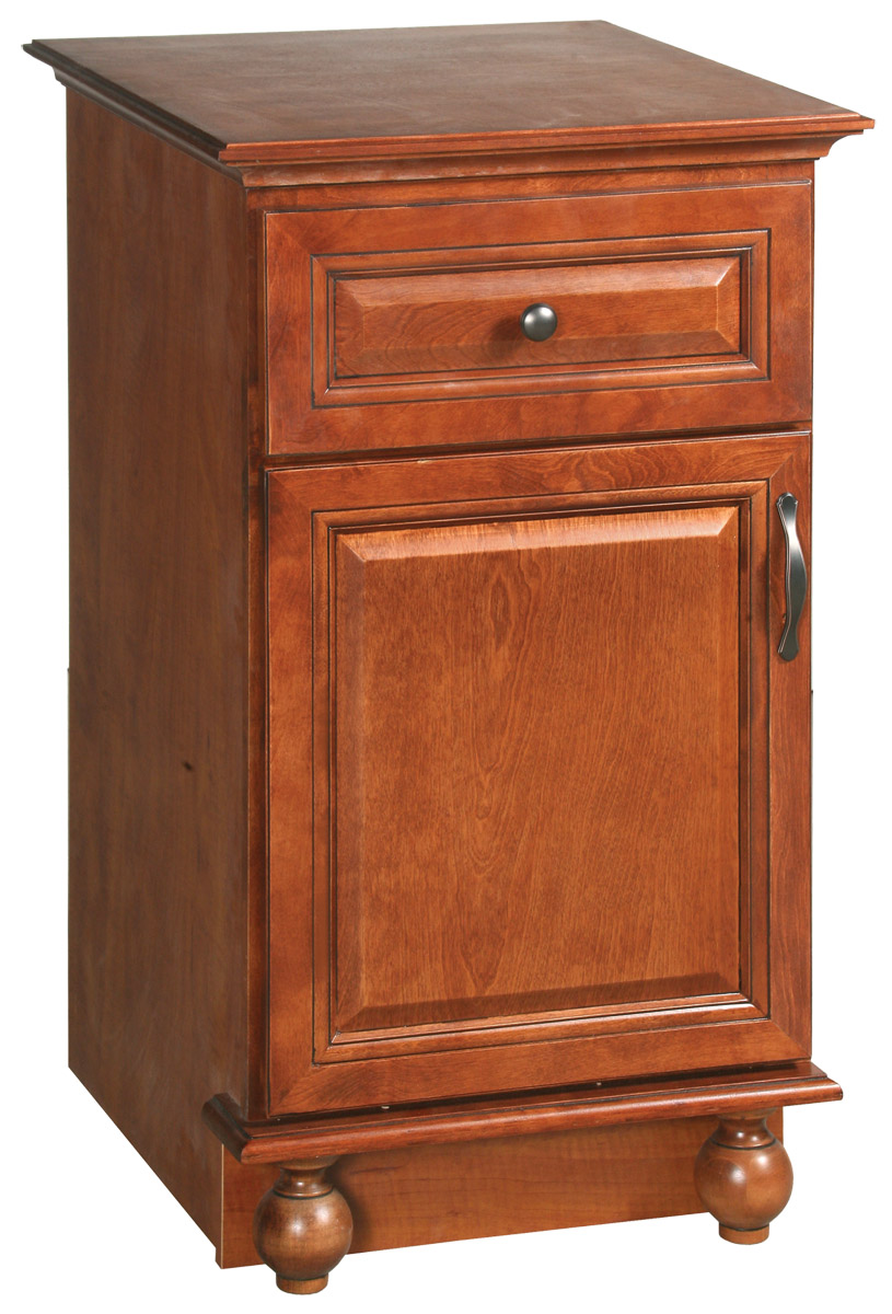 Design House 540872 Montclair Chestnut Glaze Linen Bottom Vanity Cabinet with 1-Door and 1-Drawer 35-Inches by 22.5-Inches