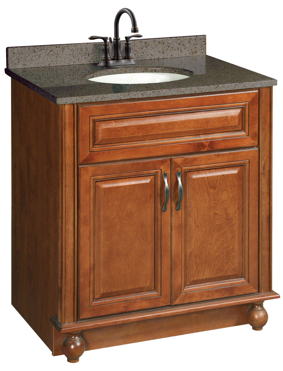 Design House 538520 Montclair Chestnut Glaze Vanity Cabinet with 2-Doors 30-Inches by 21-Inches