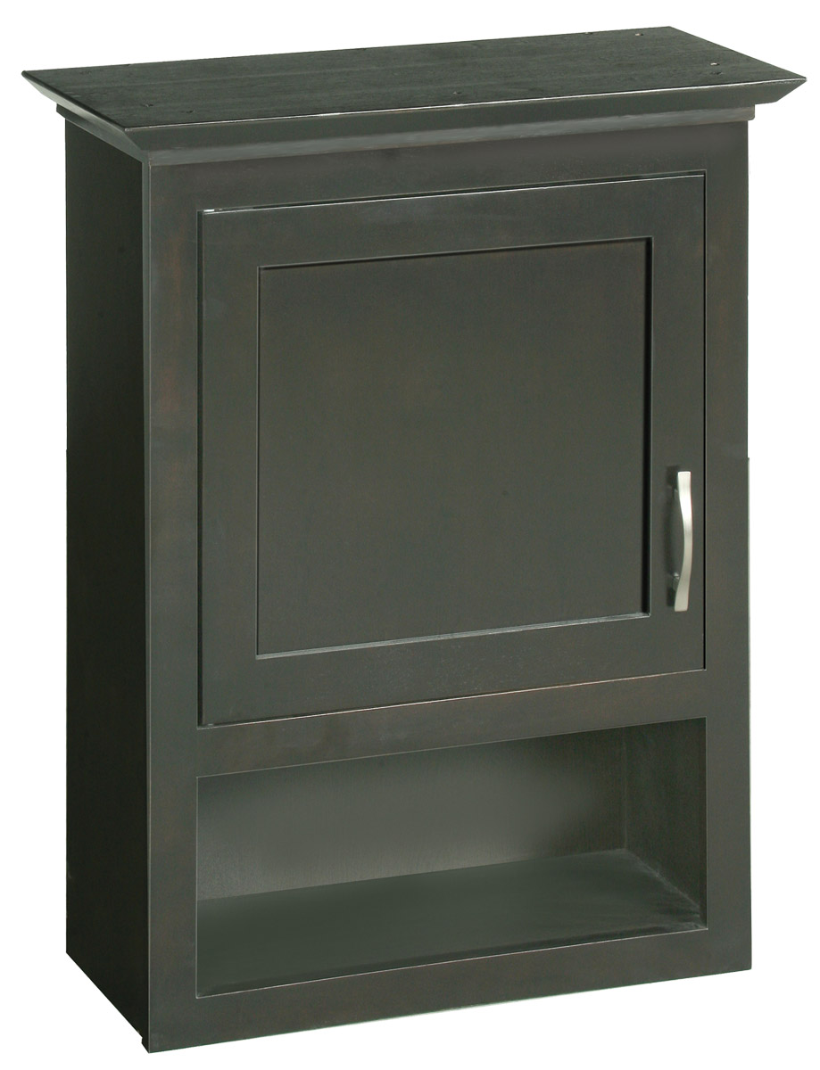 Design House 541318 Ventura Espresso Bathroom Wall Cabinet with 1-Door and 1-Shelf 23.1-Inches by 30-Inches