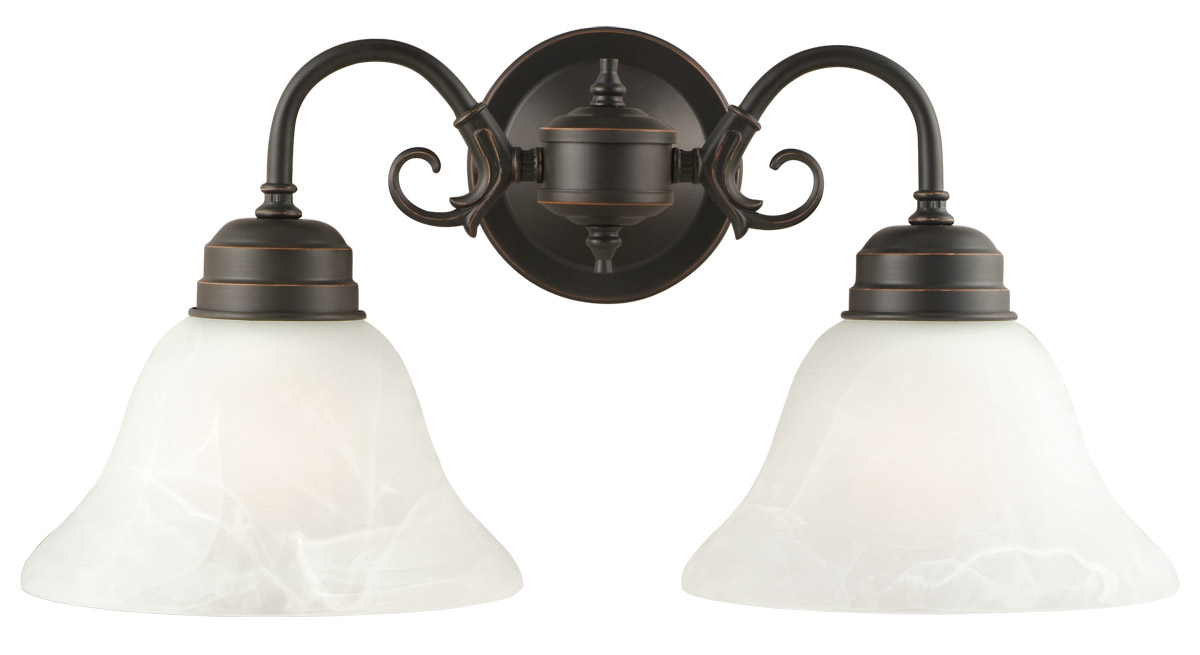 Design House 514471 Millbridge 2-Light Wall Mount, Oil Rubbed Bronze Finish