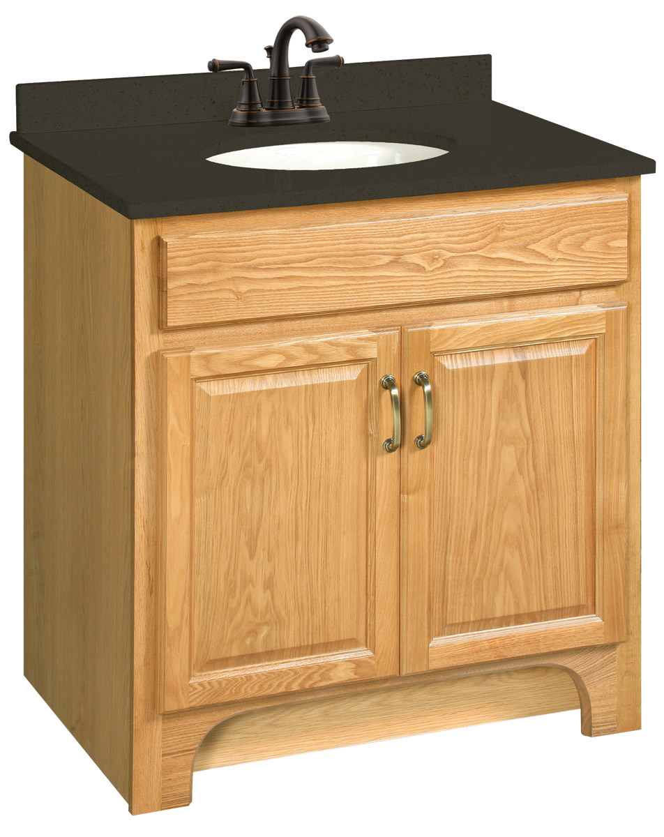 Design House 541144 Richland Nutmeg Oak Vanity Cabinet with 2-Doors 30-Inches by 18-Inches