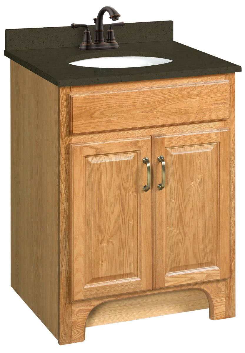 Design House 530386 Richland Nutmeg Oak Vanity Cabinet with 2-Doors 24-Inches by 21-Inches