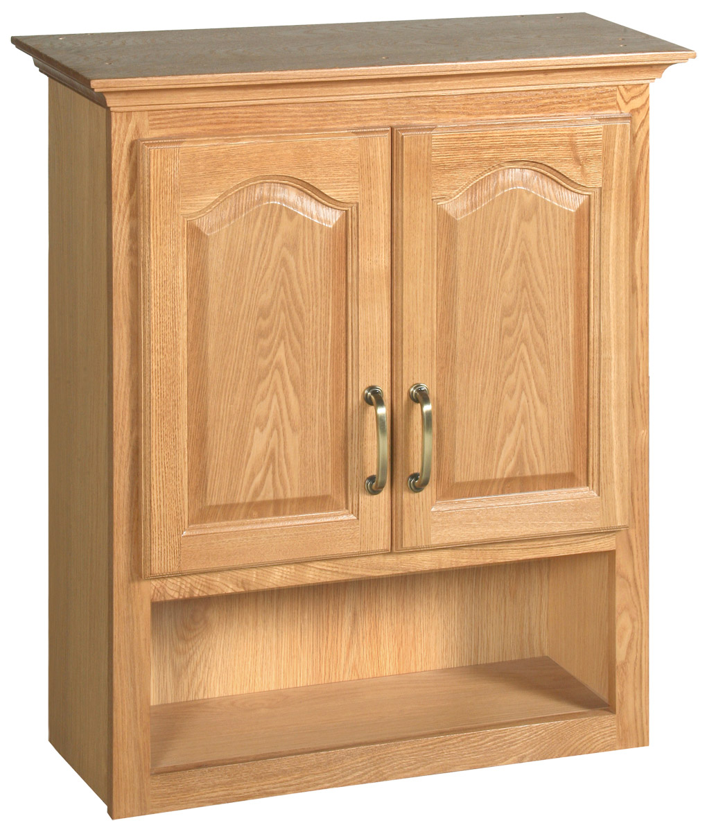 Design House 552844 Richland Nutmeg Oak Bathroom Wall Cabinet with 2-Doors 26.7-Inches by 30-Inches