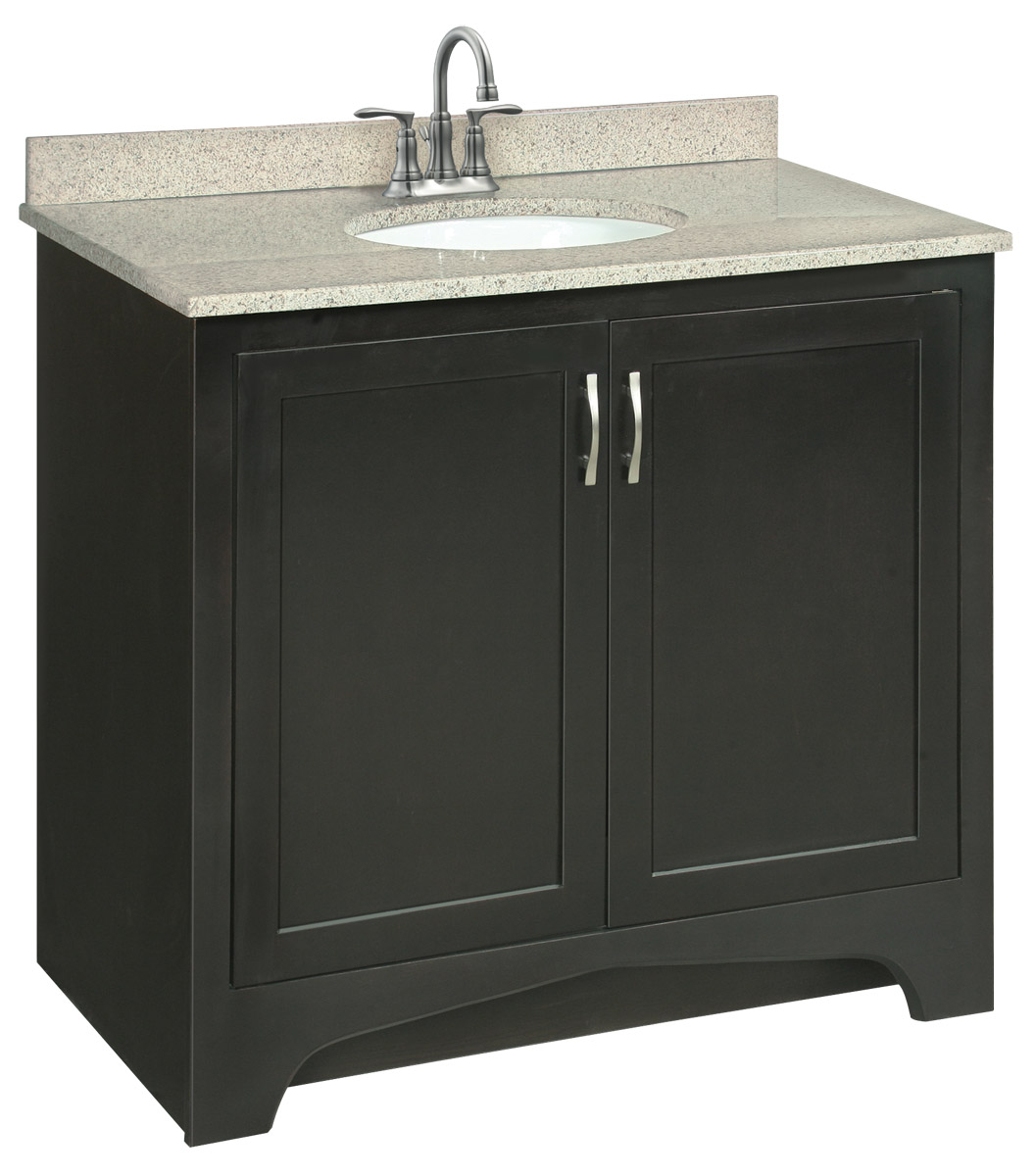 Design House 539601 Ventura Espresso Vanity Cabinet with 2-Doors 36-Inches by 33.5-Inches