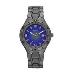 Men's Calendar Date Watch w/Round Blue Degrade Dial