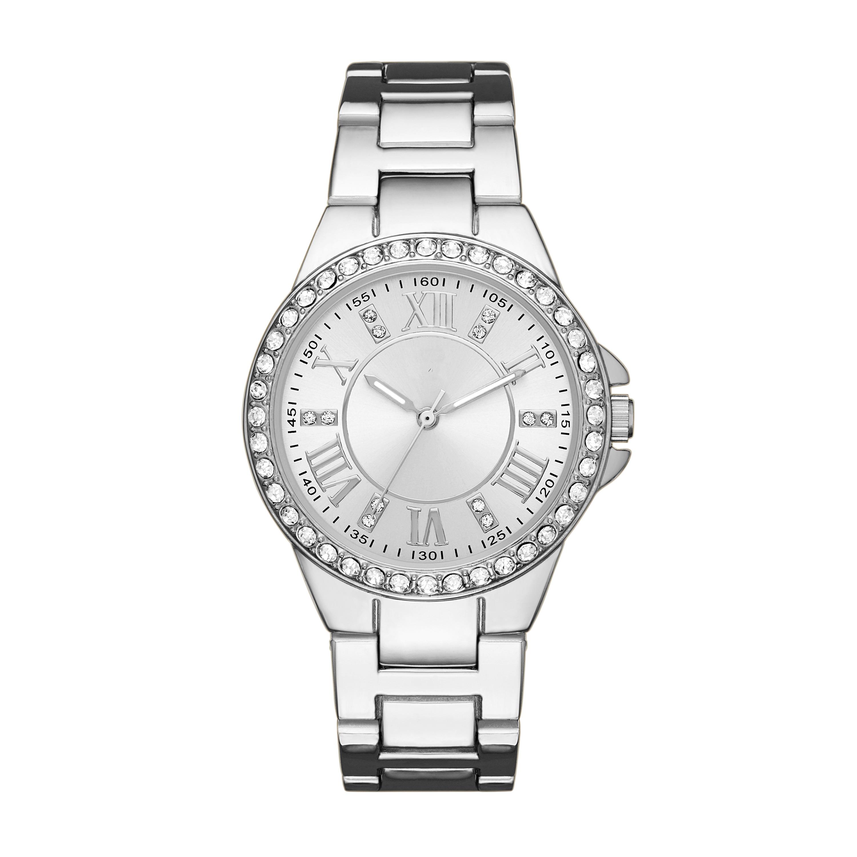 Jaclyn Smith Ladies Bracelet Silver Dial Glitz Watch
