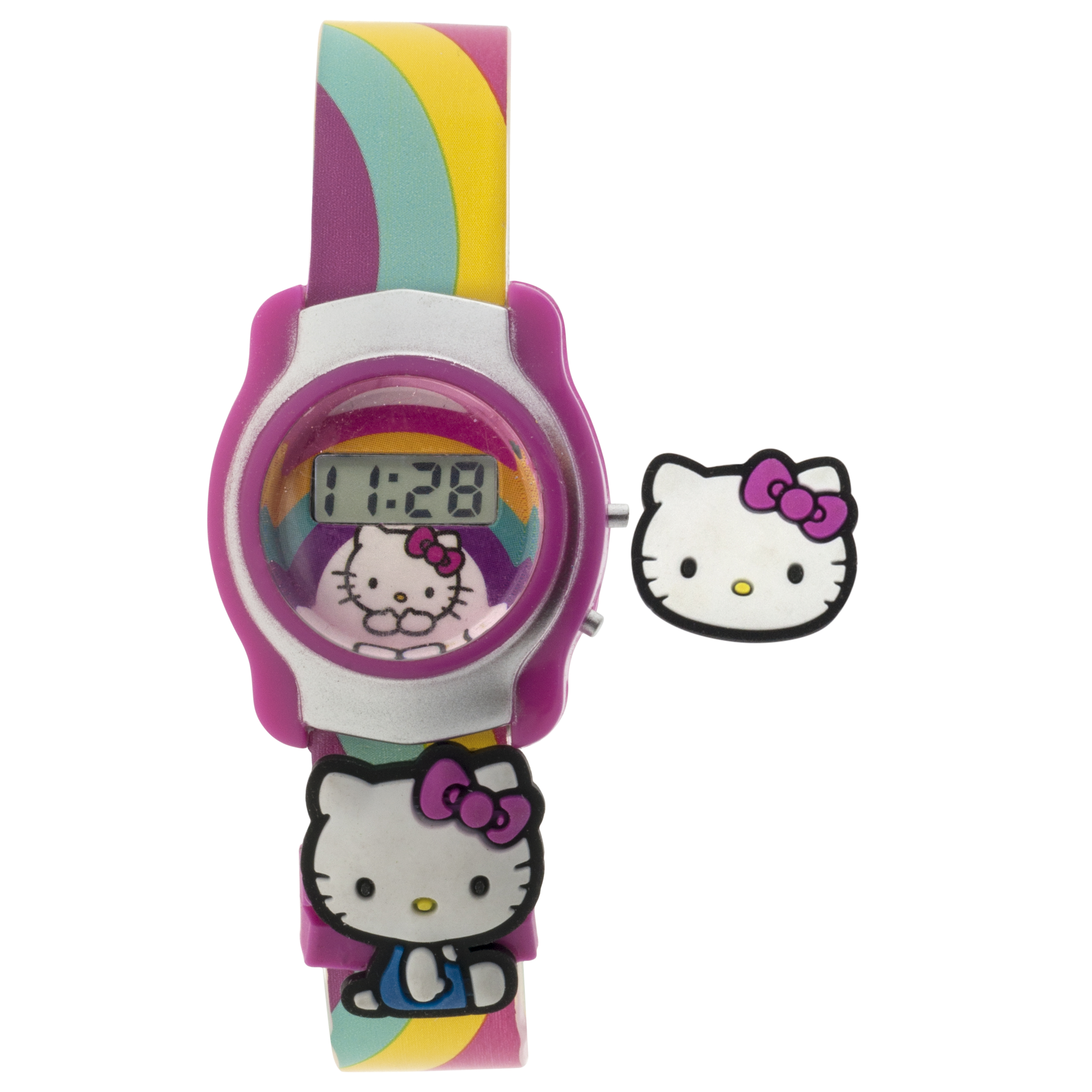 Toy Hello Kitty Watch : Hello kitty slide on lcd watch jewelry watches