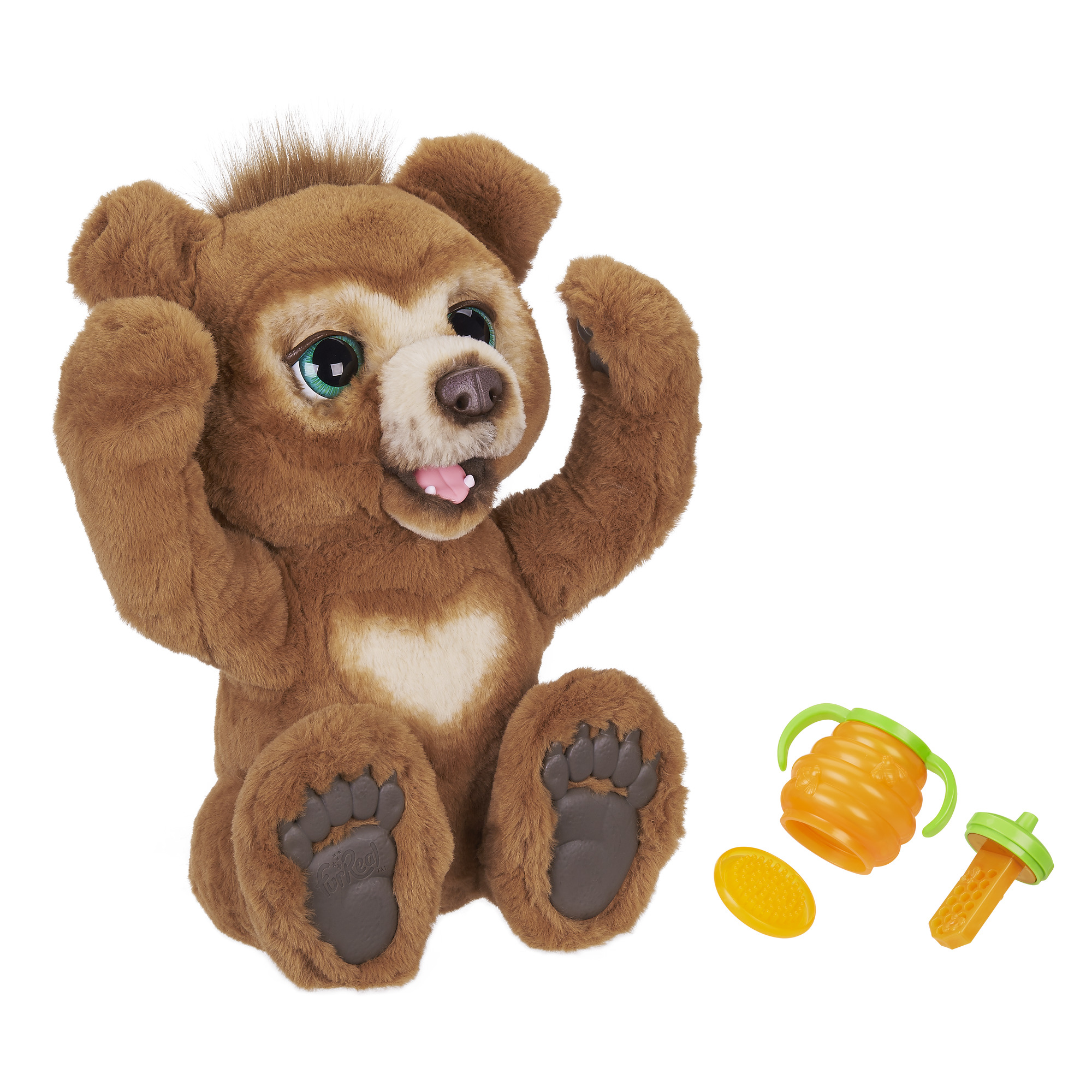 Image of furReal Cubby, the Curious Bear Interactive Plush Toy, Ages 4 and Up