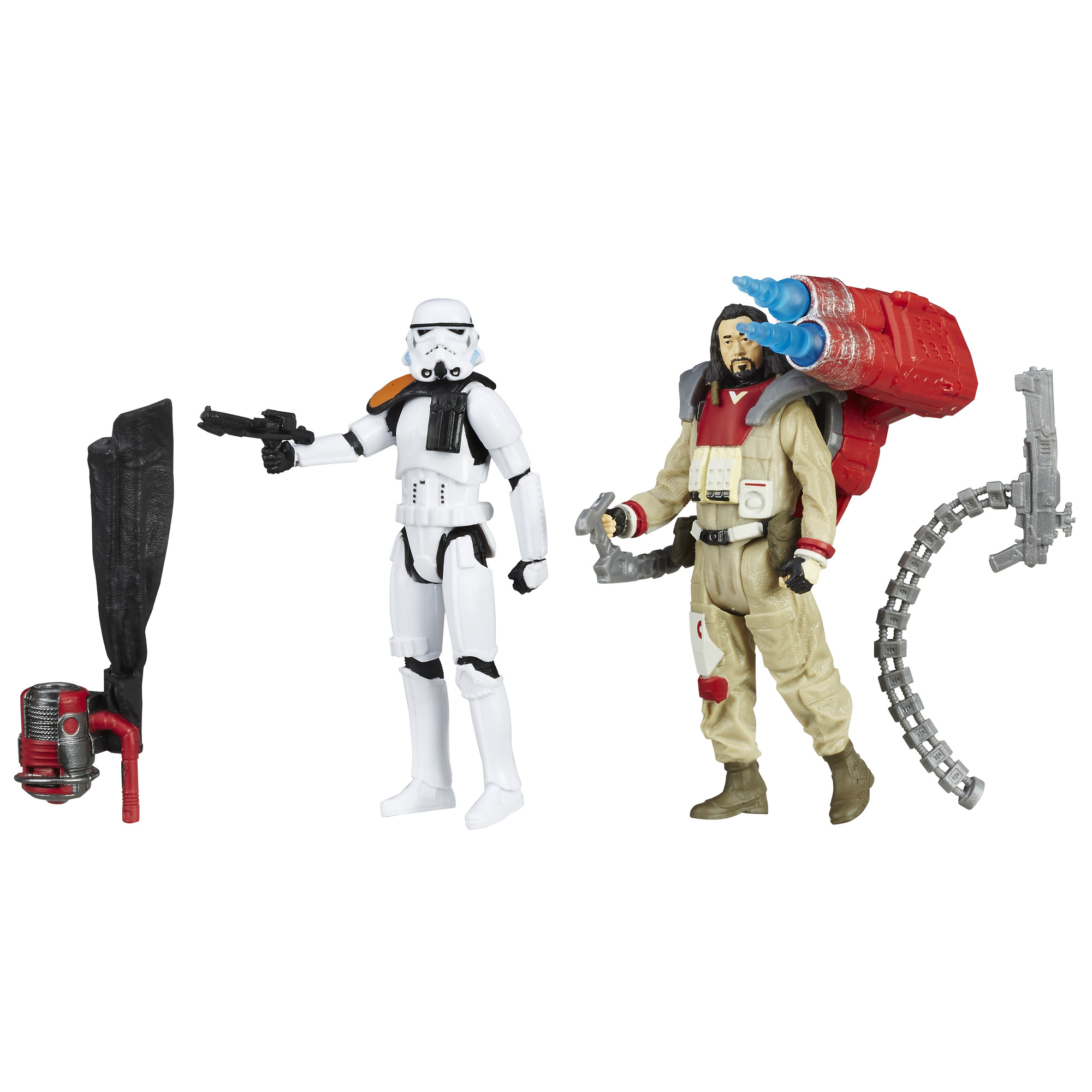 Star Wars Rogue One Baze Malbus VS. Imperial Stormtrooper, 3.75-Inches PartNumber: 004W007284792015P