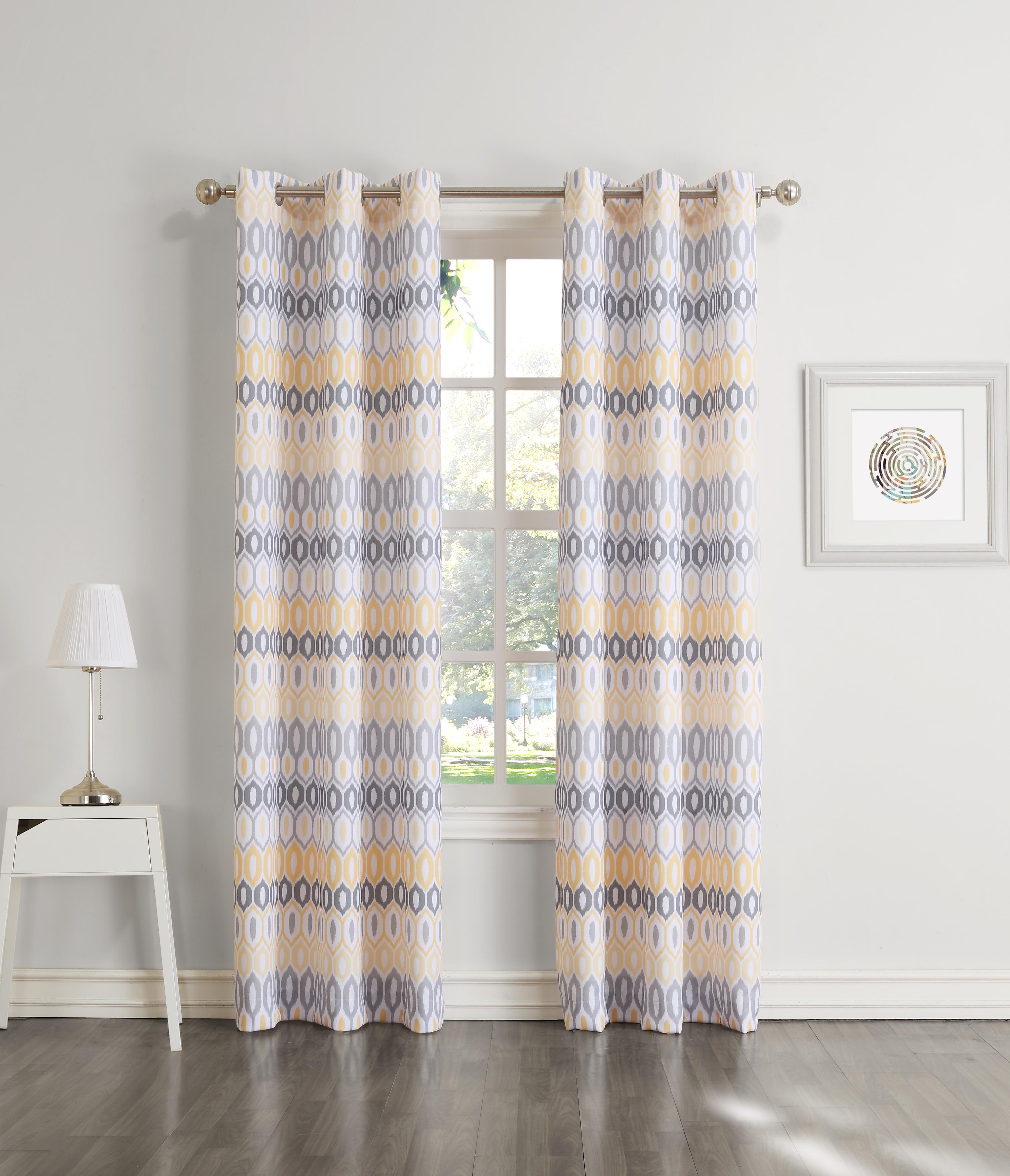 Newfane Newfane Woven Grommet Window Panel - Vesper Print