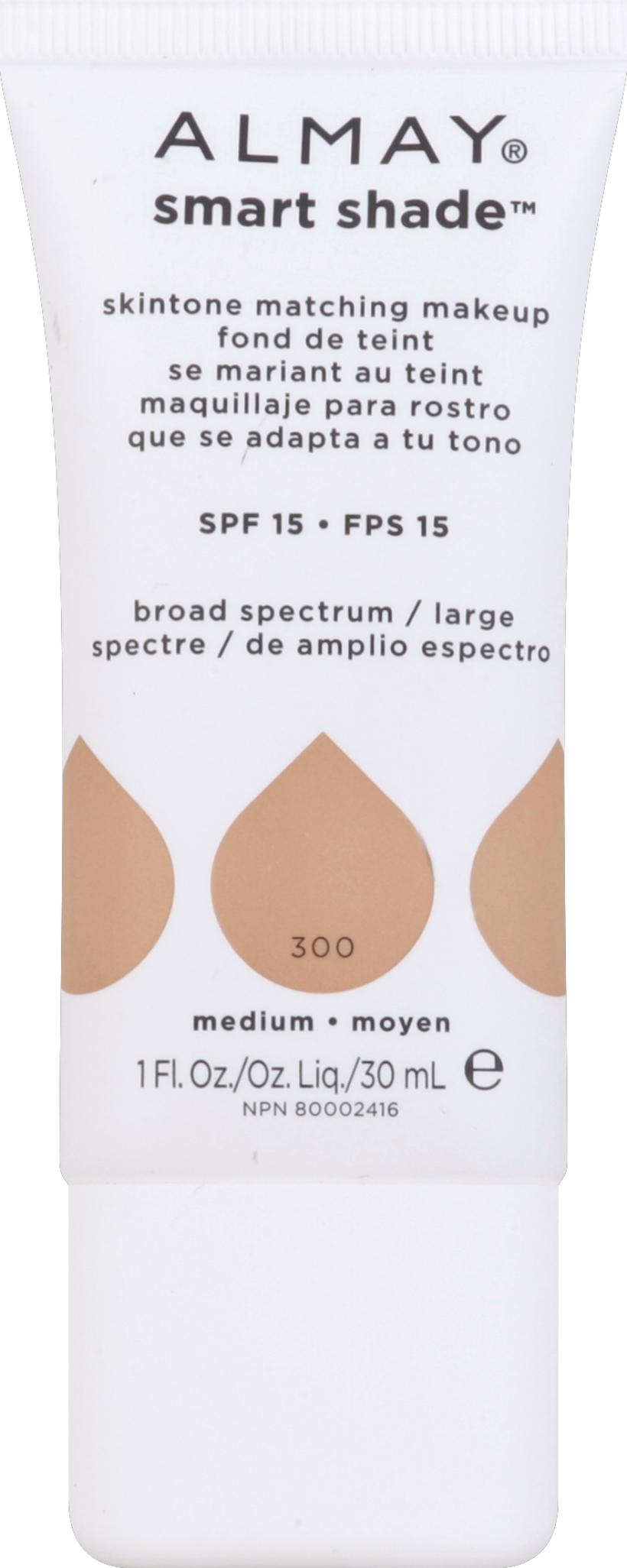 Almay Skintone Matching Makeup  Medium  1 fl oz (30 ml) PartNumber: 015W004004518001P KsnValue: 4004518 MfgPartNumber: 560303