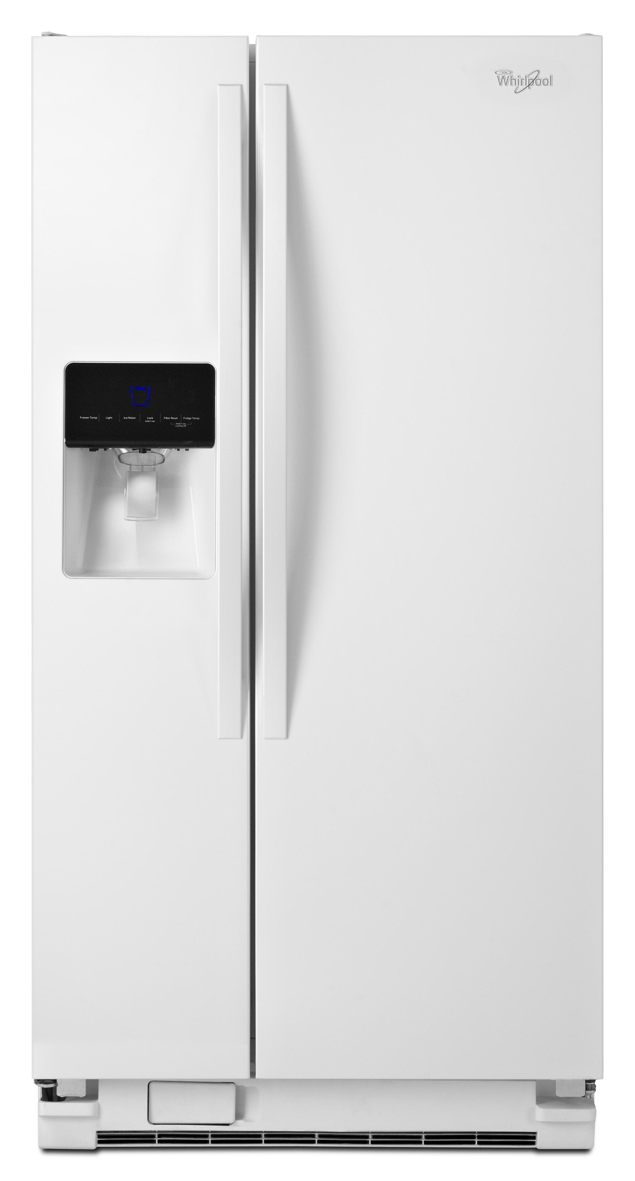 Whirlpool WRS342FIAW 21.3 cu. ft.- Side-by-Side Refrigerator - White