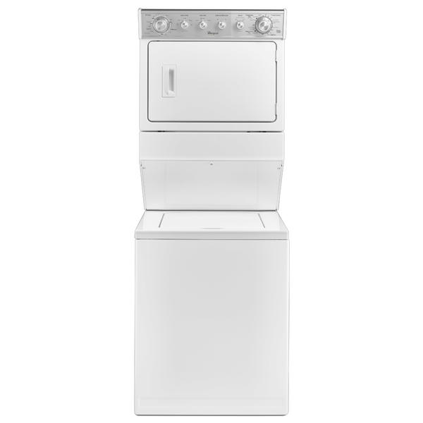 """Whirlpool WET4027EW  27"""" Full-Size Electric Stacked Laundry Unit - White"""