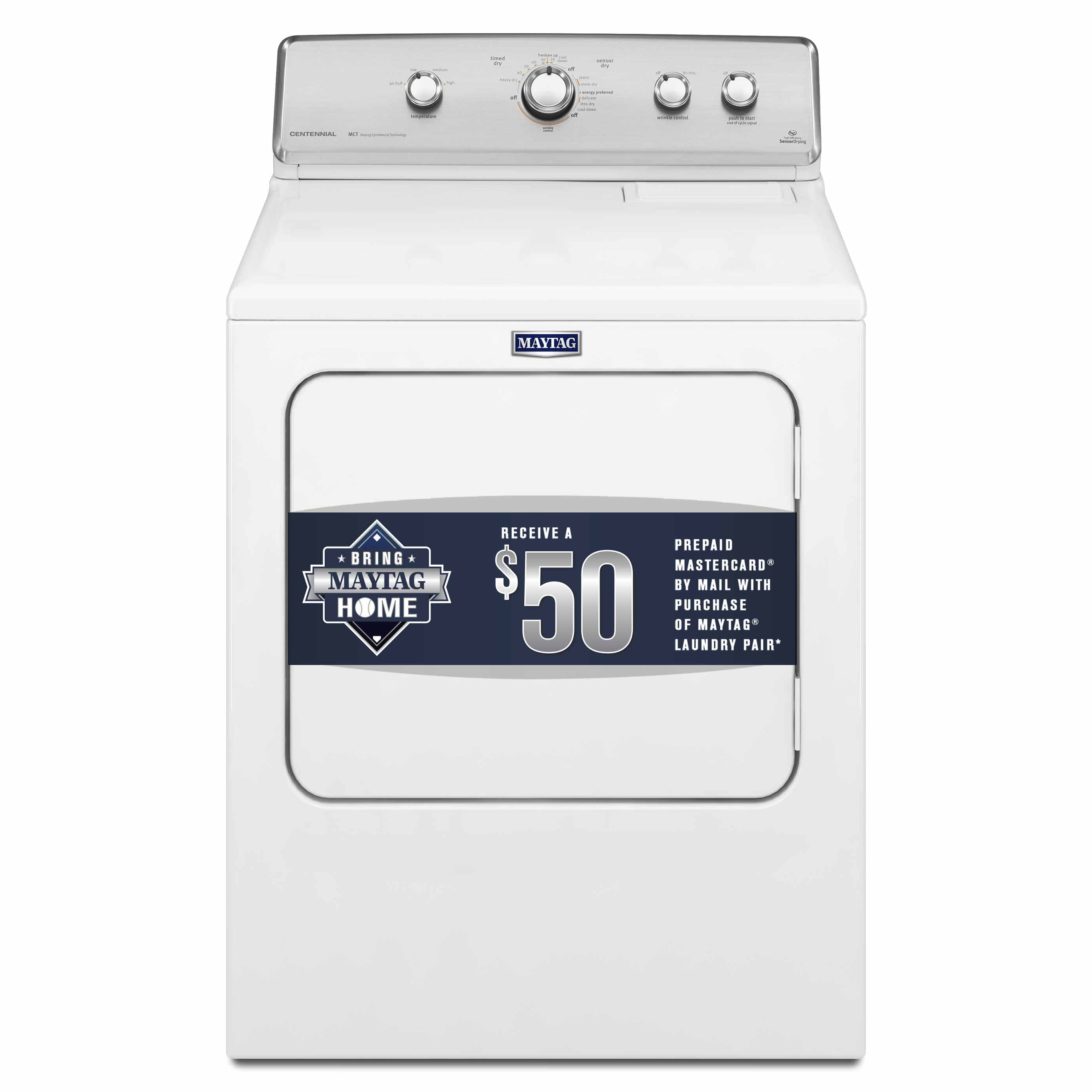Maytag 7.0 cu. ft. Centennial® Electric Dryer - White