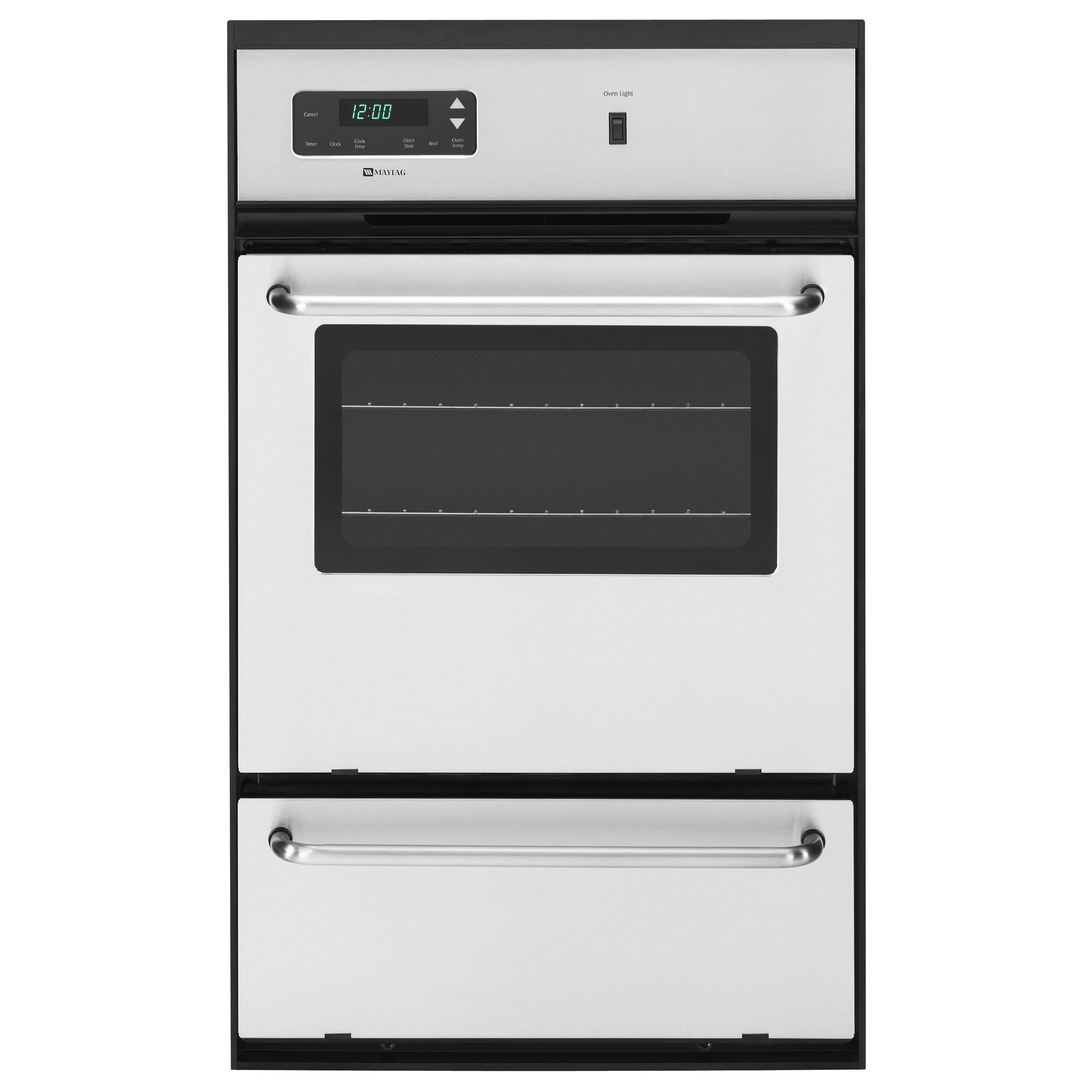 """Maytag - CWG3100AAS - 24"""" Gas Single Standard Clean Wall Oven ..."""