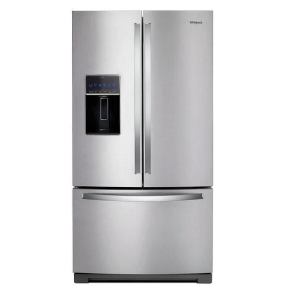 Whirlpool WRF767SDHZ 27 cu. ft. Stainless Steel French Door Refrigerator with Bottom Freezer