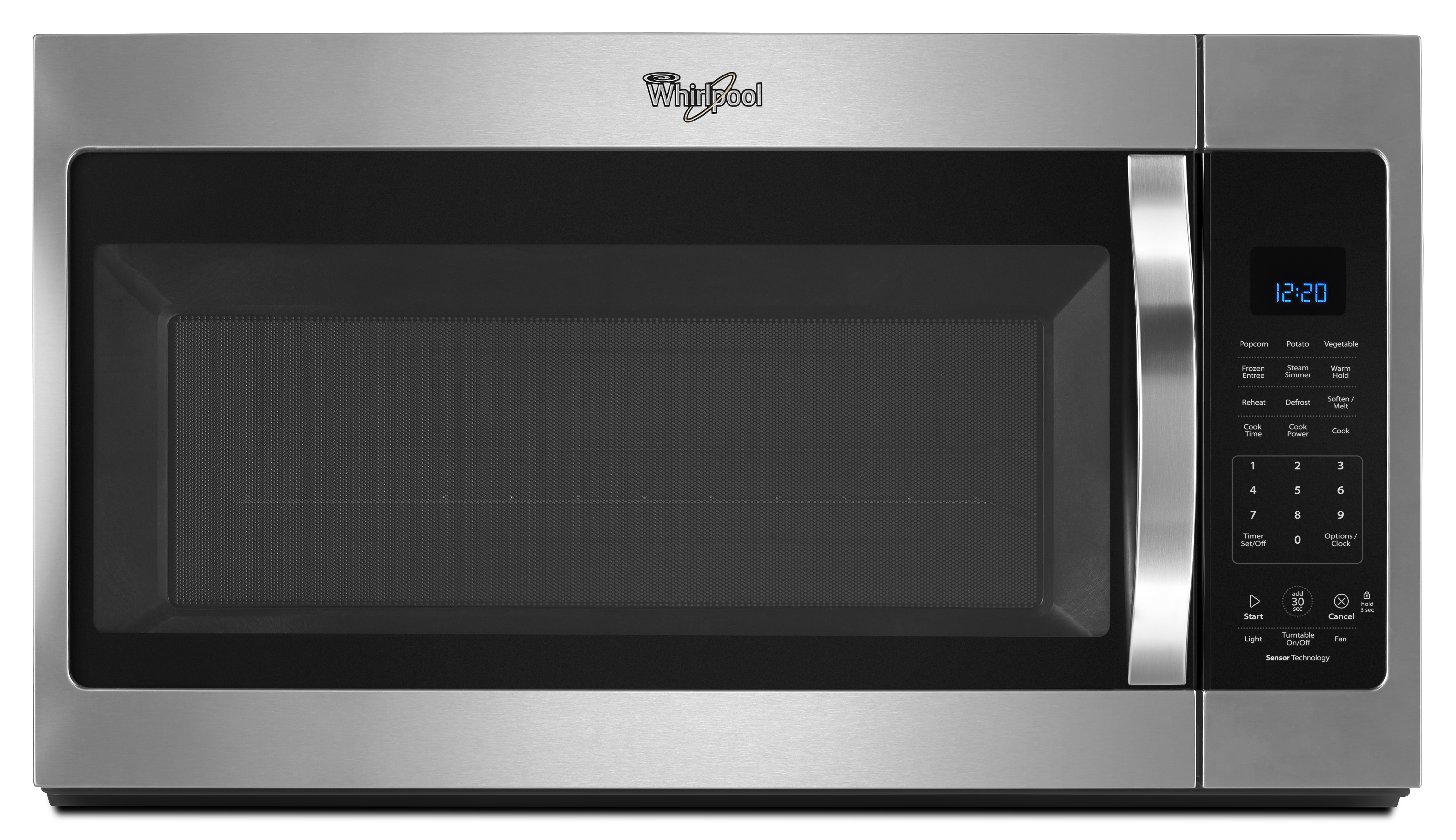 Whirlpool WMH32519FS 1.9 cu. ft. Capacity Steam Microwave w/ Sensor Cooking – Stainless Steel