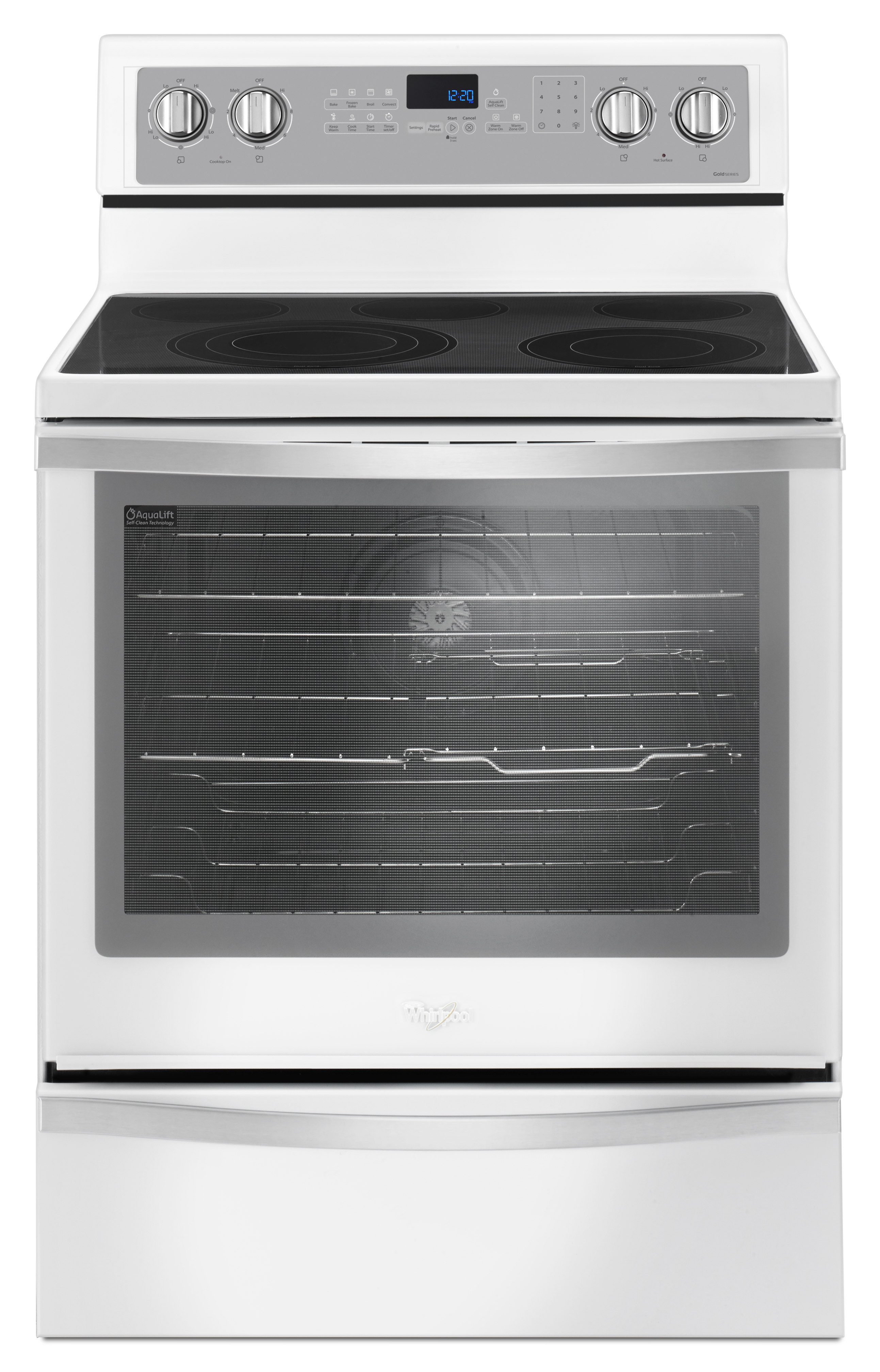 Whirlpool WFE745H0FH 6.4 cu. ft. Freestanding Electric Range w/ True Convection – White