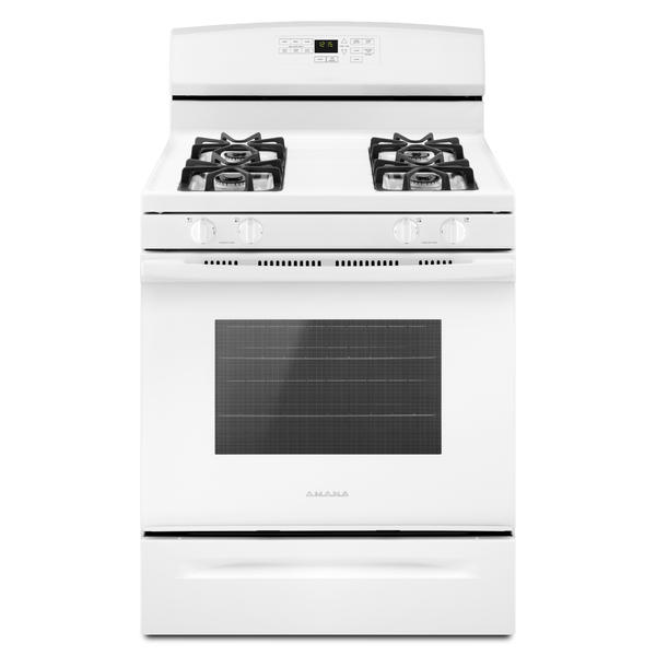 "Amana AGR6603SFW  30"" 5.0 cu. ft. Gas Range w/Self-Clean Option - White"