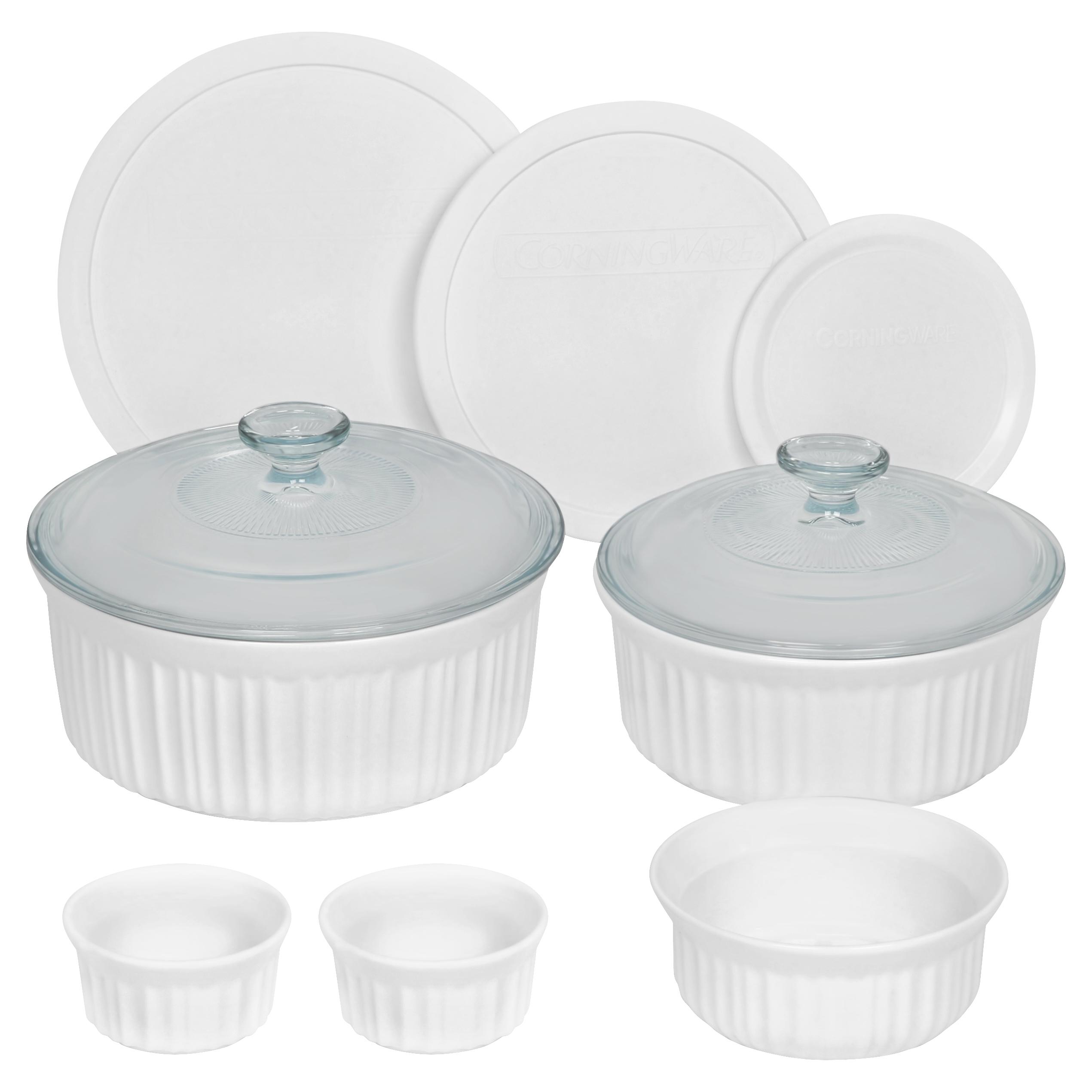 Image of Corning Ware 10 Piece Round Corningware Set, White