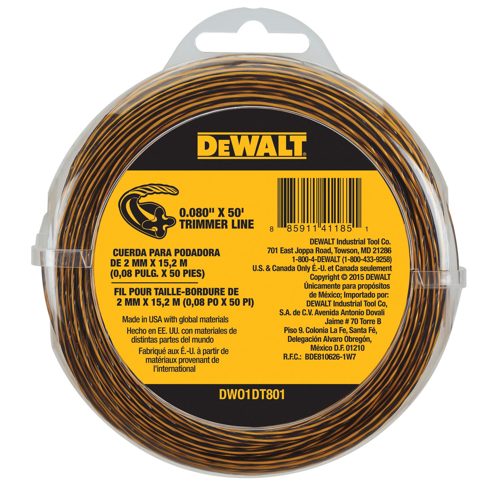 """Image of """"DeWalt DWO1DT801 .080"""""""" x 50' Trimmer Line"""""""