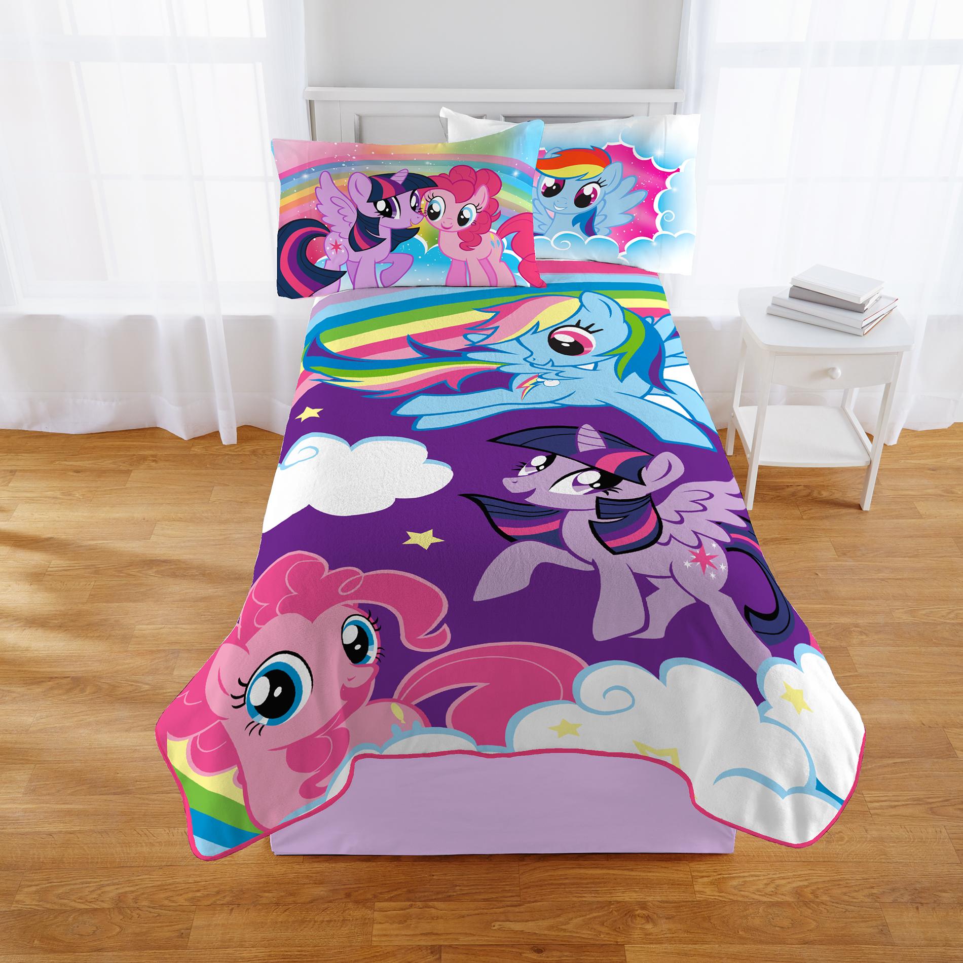Hasbro My Little Pony Kids Blanket - Multicolored PartNumber: 048W009488291001P KsnValue: 048W009488291001 MfgPartNumber: A4491K