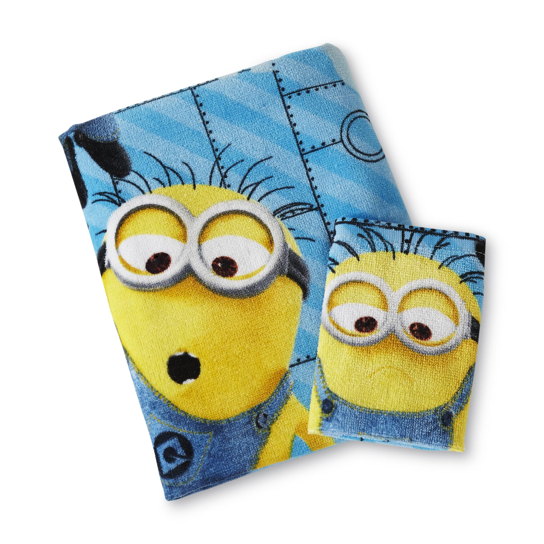Universal Studios Despicable Me Minions Bath Towel & Washcloth