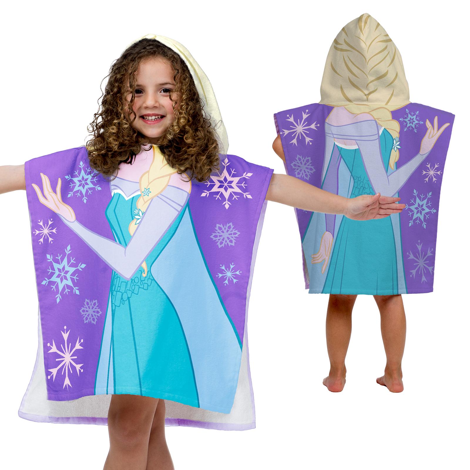 Image of Disney Frozen Elsa Hooded Poncho Towel, Blue