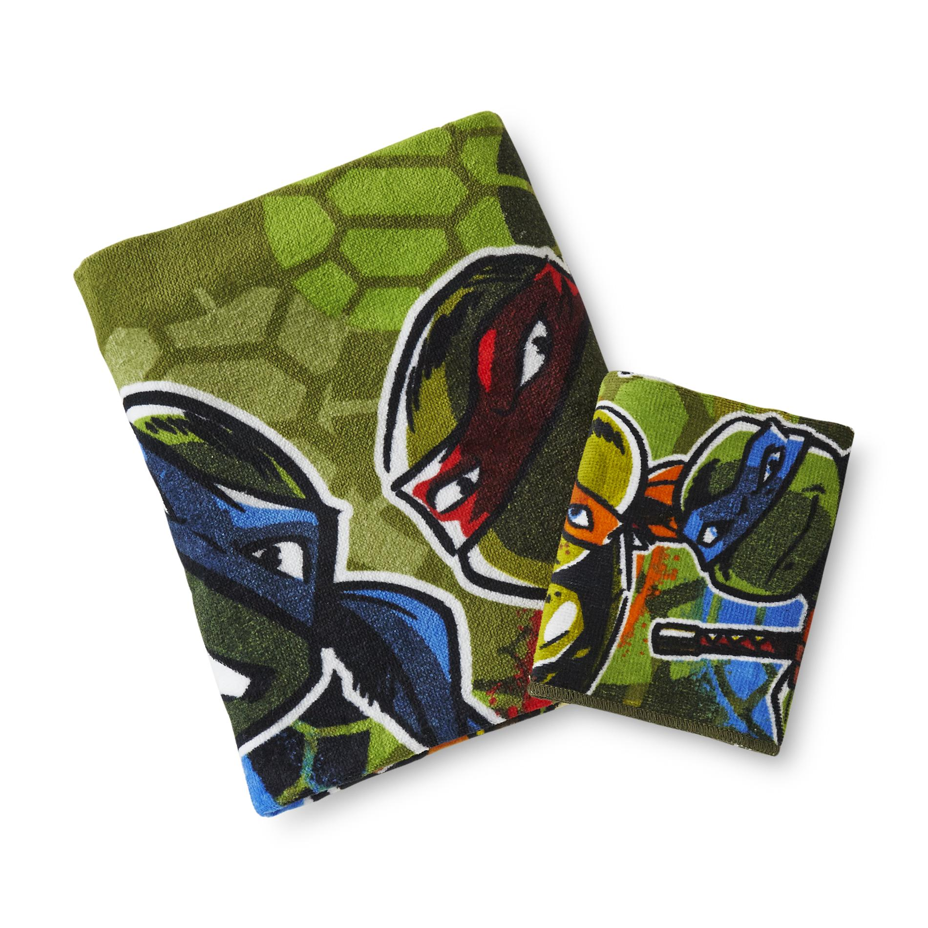 Nickelodeon Teenage Mutant Ninja Turtles Bath Towel & Washcloth
