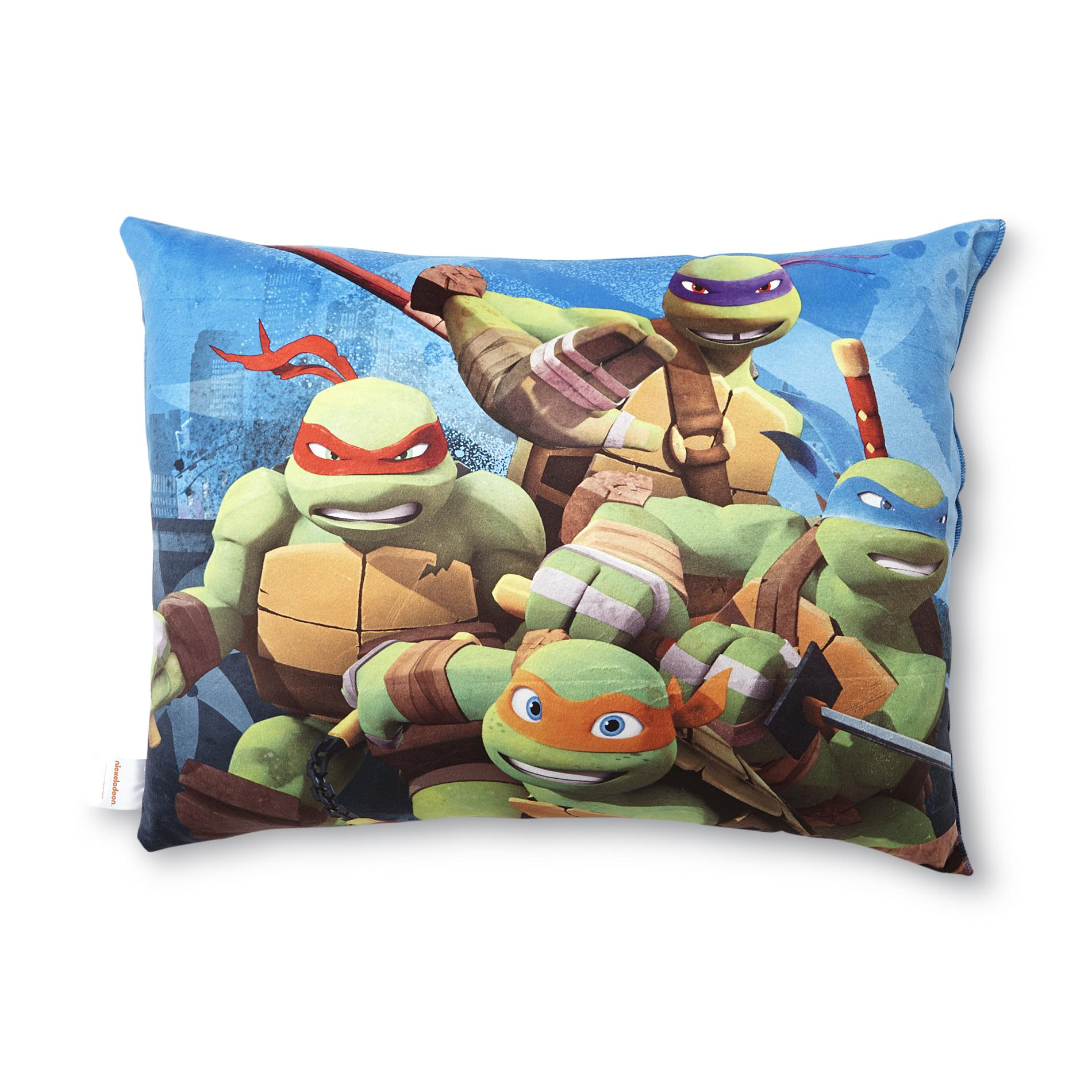 Image of Nickelodeon Bed Pillow - Teenage Mutant Ninja Turtles, Blue
