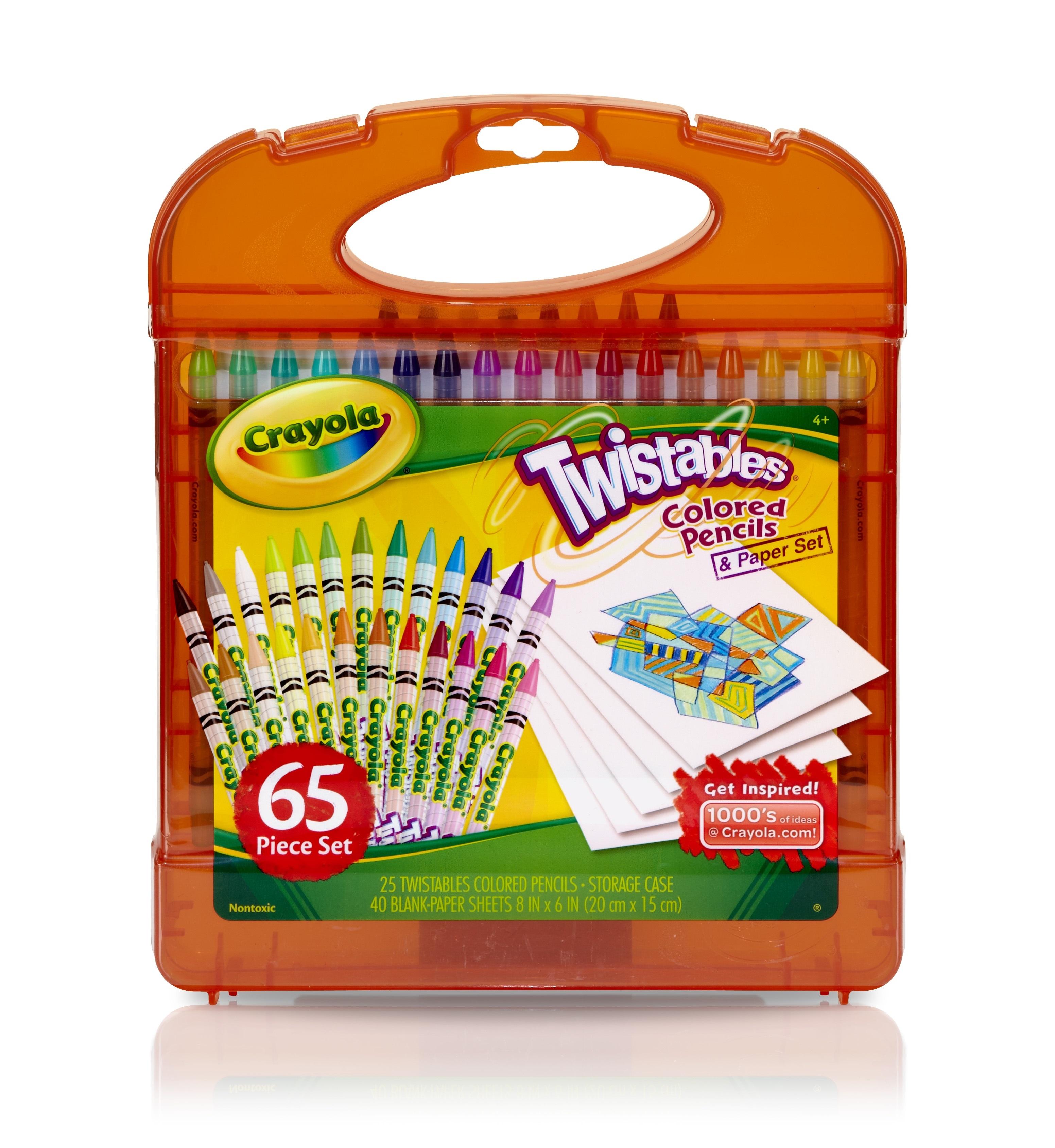 Crayola Twistable Colored Pencils Paper Set 65 piece set 25