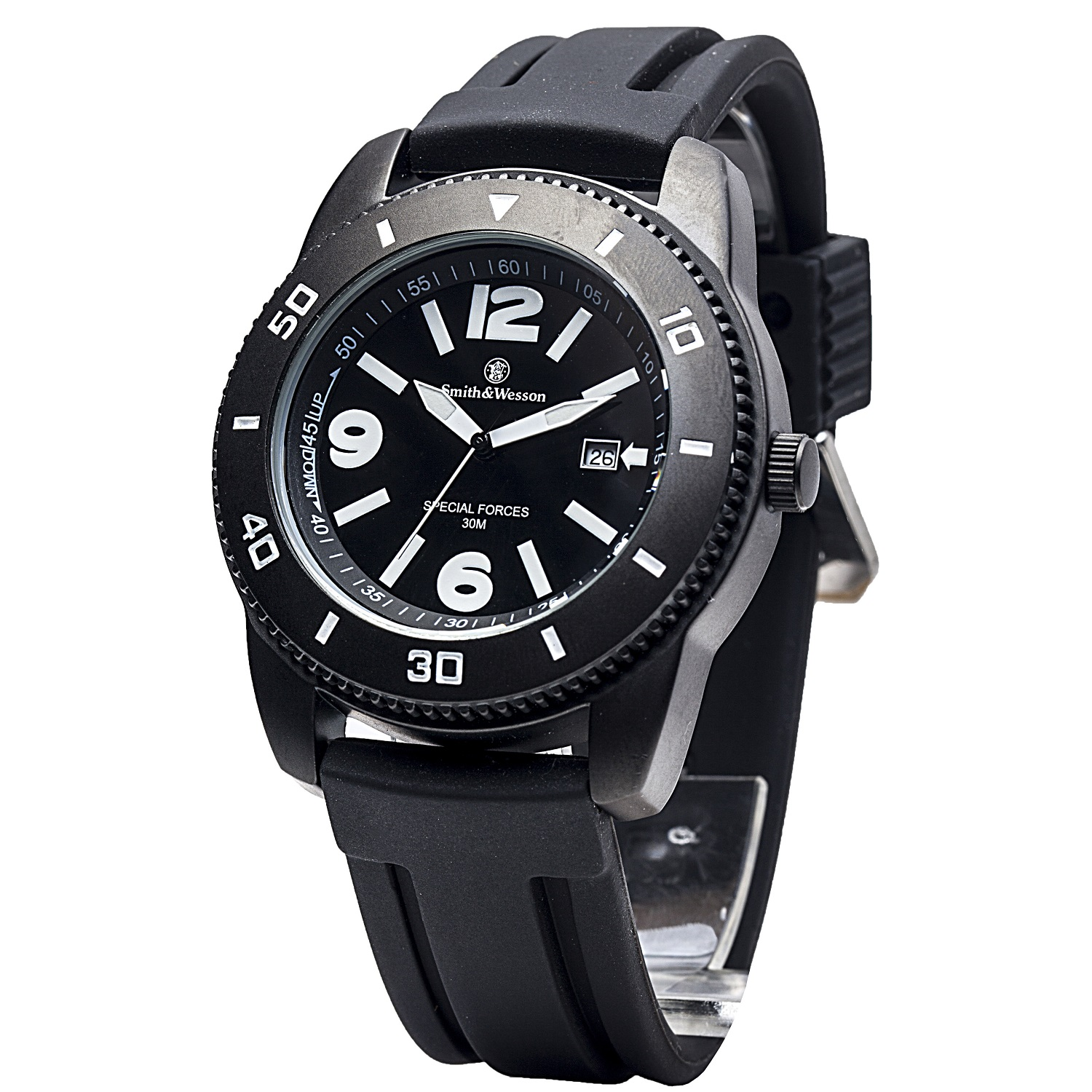 Smith & Wesson Paratrooper Watch with Black Rubber Strap