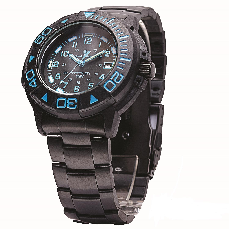 Smith & Wesson Swiss Tritium Diver Watch Black/Blue