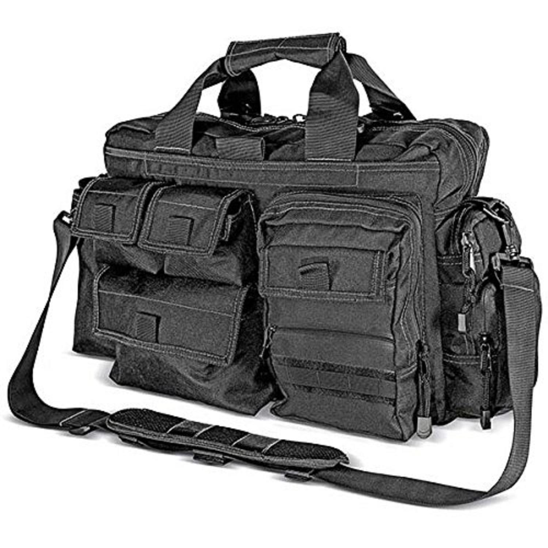 Kilimanjaro Tectus Tactical Briefcase Conceal Carry Bag-Blk