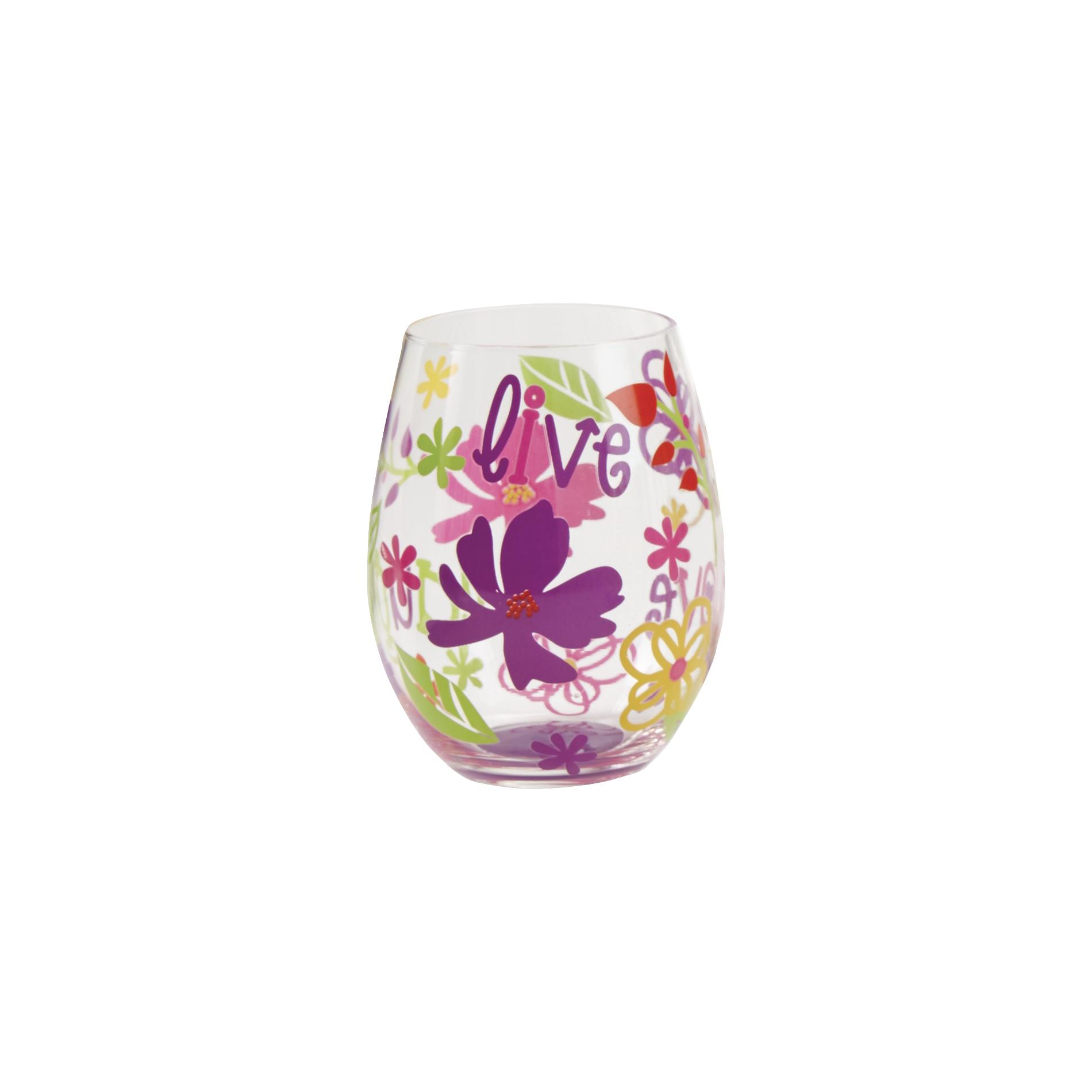 Image of Stemless Wine Glass-Hello Wine